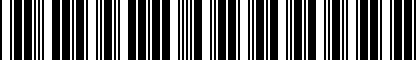 Barcode for 010321227