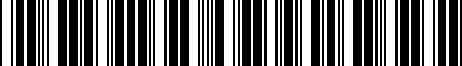 Barcode for 01M321407