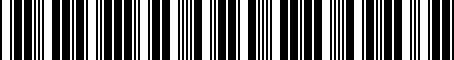 Barcode for 01M325039F