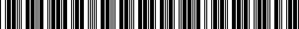 Barcode for 02E300051RX01H