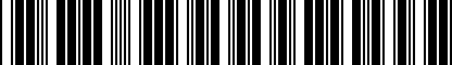 Barcode for 037122058