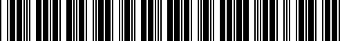 Barcode for 051100103CX