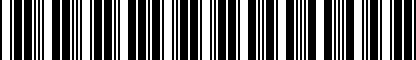Barcode for 070115562