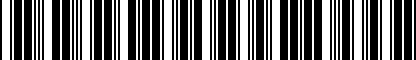 Barcode for 074121031