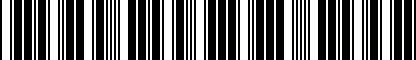 Barcode for 1Y0871301