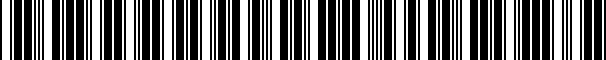Barcode for 4A1819403B 01C