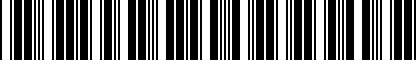 Barcode for 7B0052186