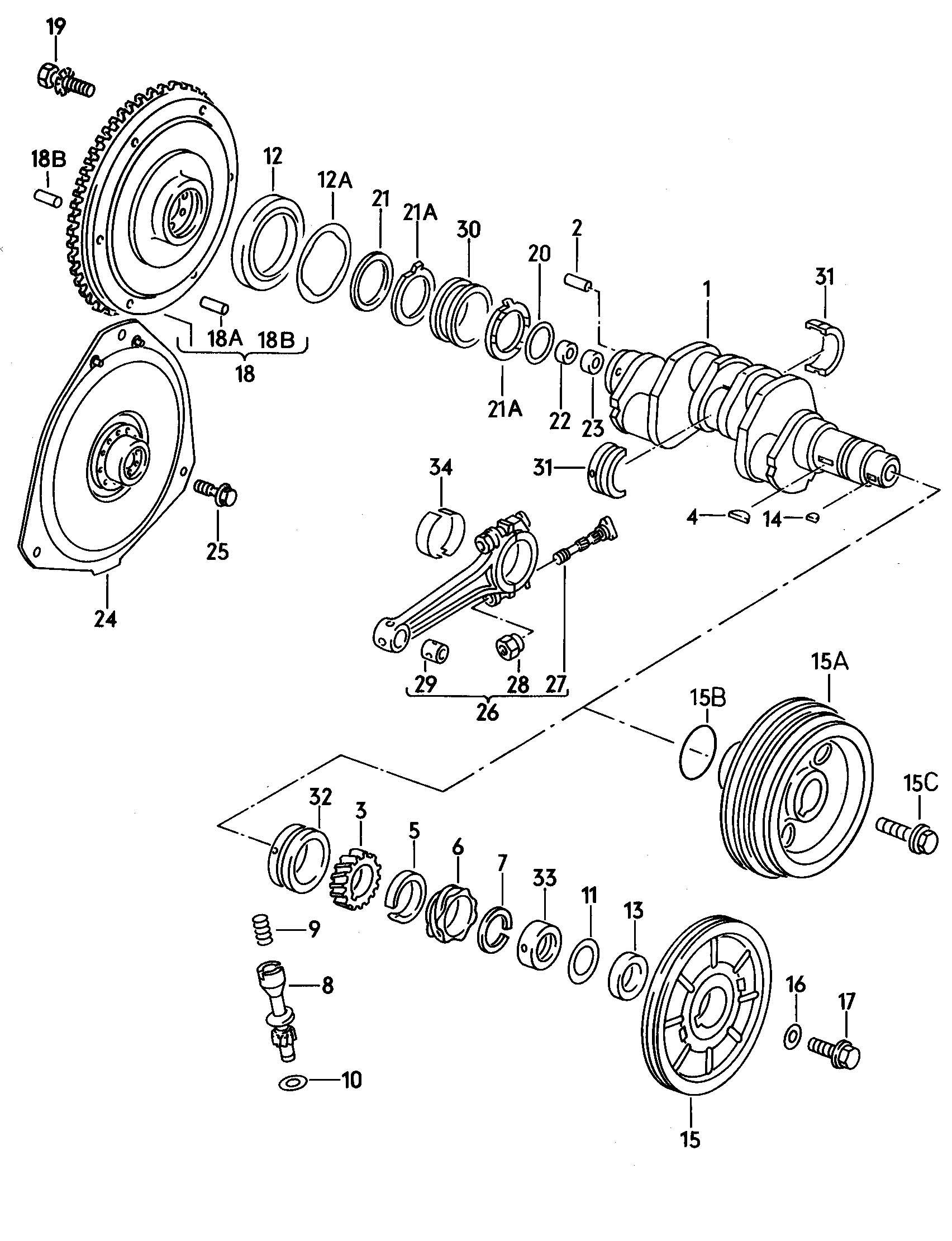 volkswagen vanagon syncro round seal  strainer  flywheel