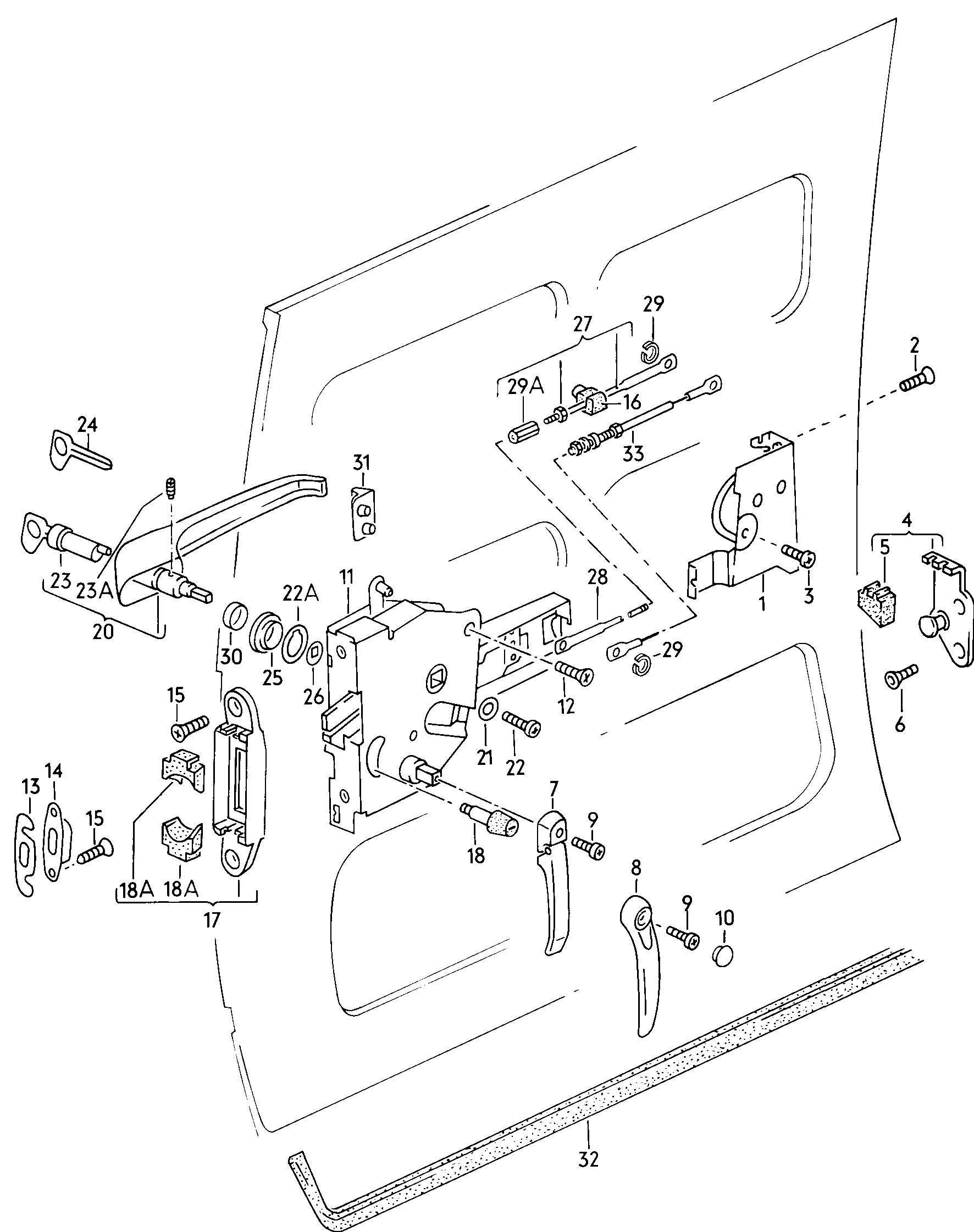 Sliding Door Parts Eurovan 1999 Volkswagen Beetle Engine Diagram Http Wwwjimellisvwpartscom Images