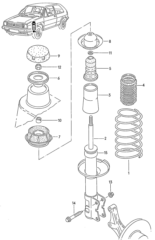volkswagen jetta suspension shock absorber front