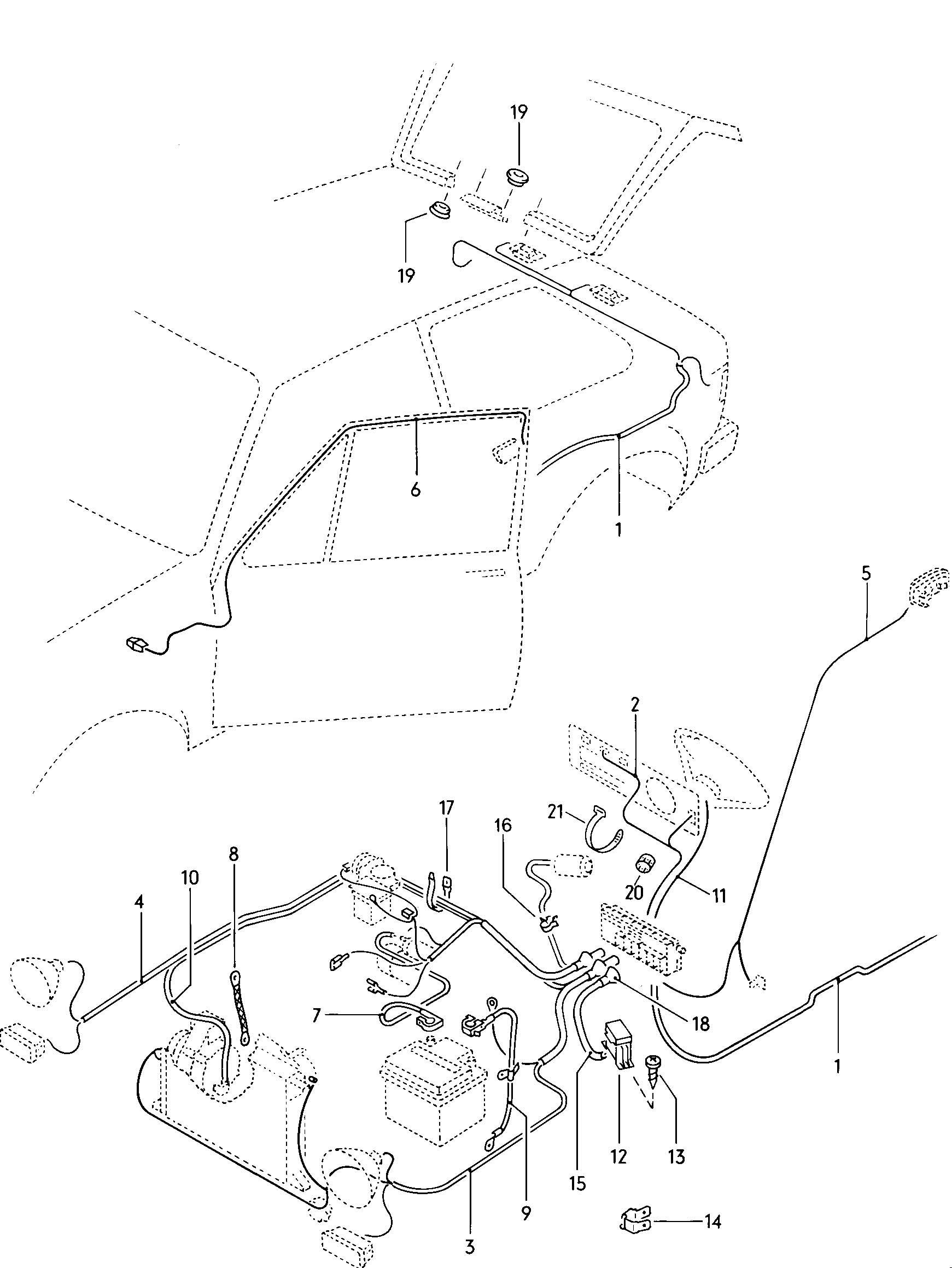 1979 volkswagen vw rabbit wiring harnesses