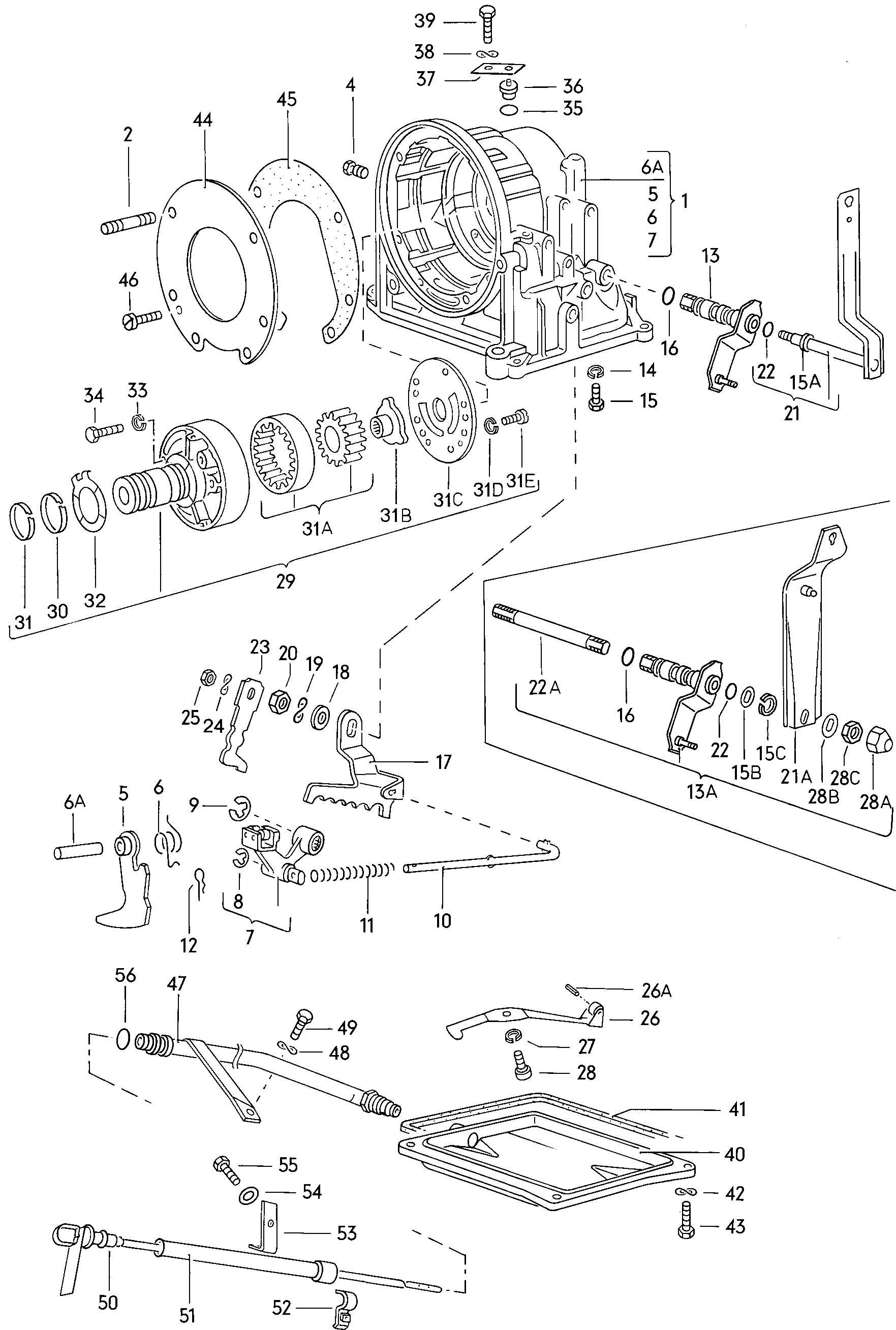 vw jetta automatic transmission diagram