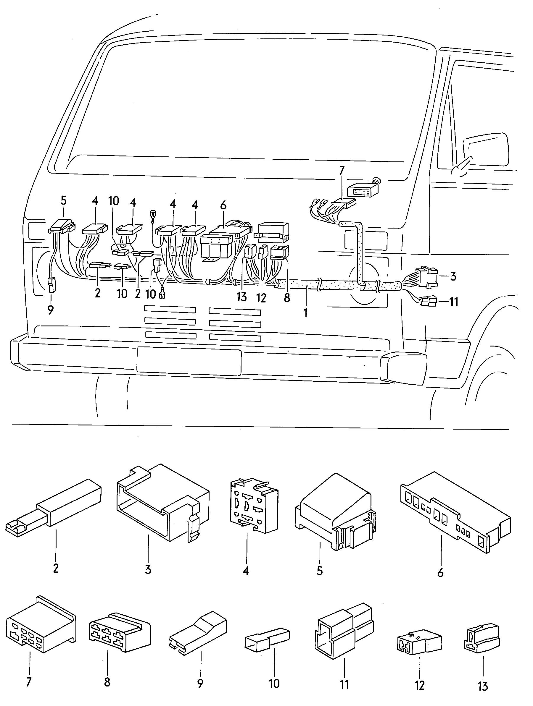 volkswagen vanagon connecting piece clip automatic adapter 1981 vanagon engine coil wiring
