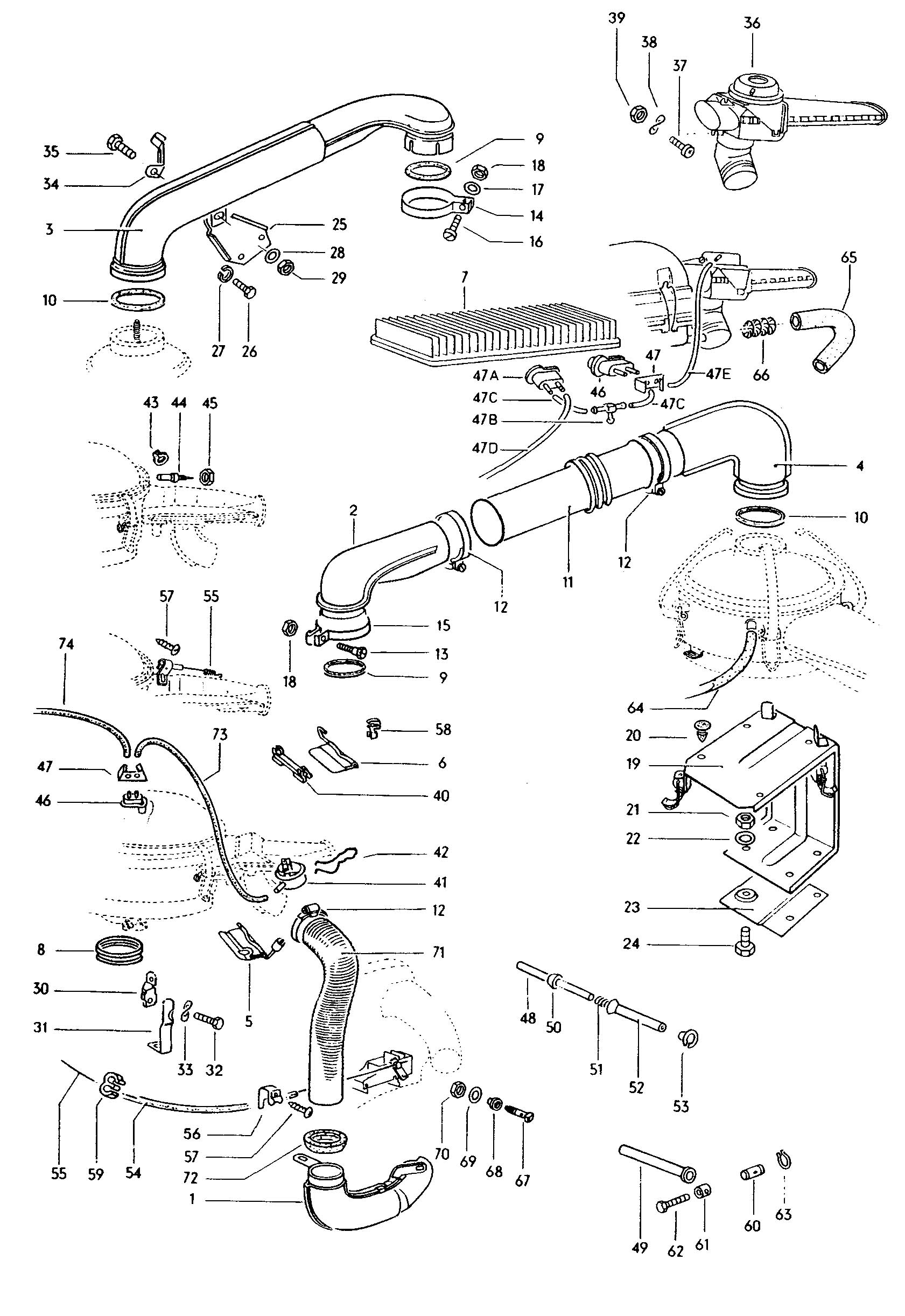 Kyosho Field Baja Beetle Parts Exploded View Images