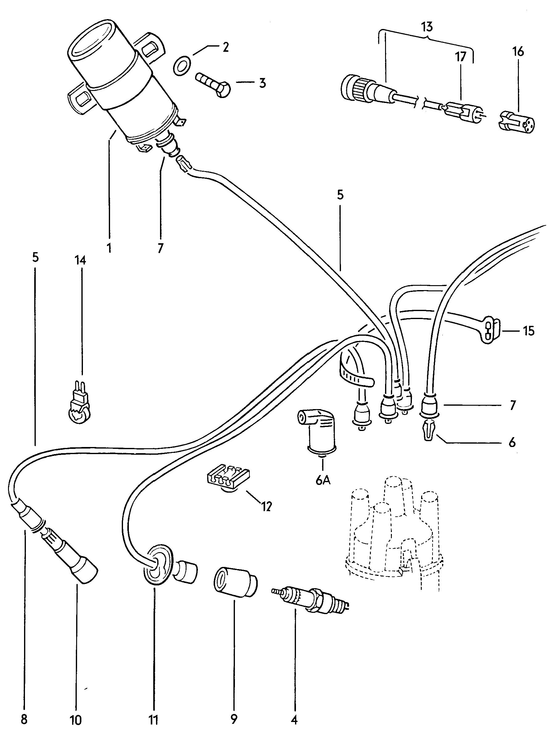 volkswagen beetle ignition coil ignition wire spark plug vw ignition coil wiring diagram #13
