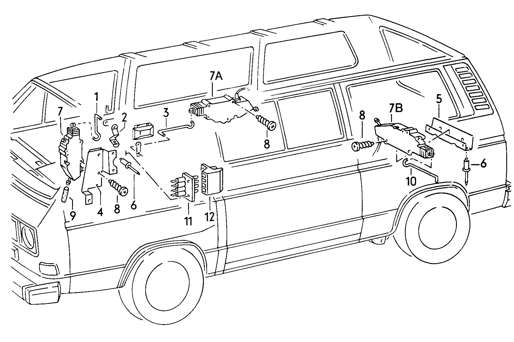 1990 volkswagen vanagon syncro central locking system