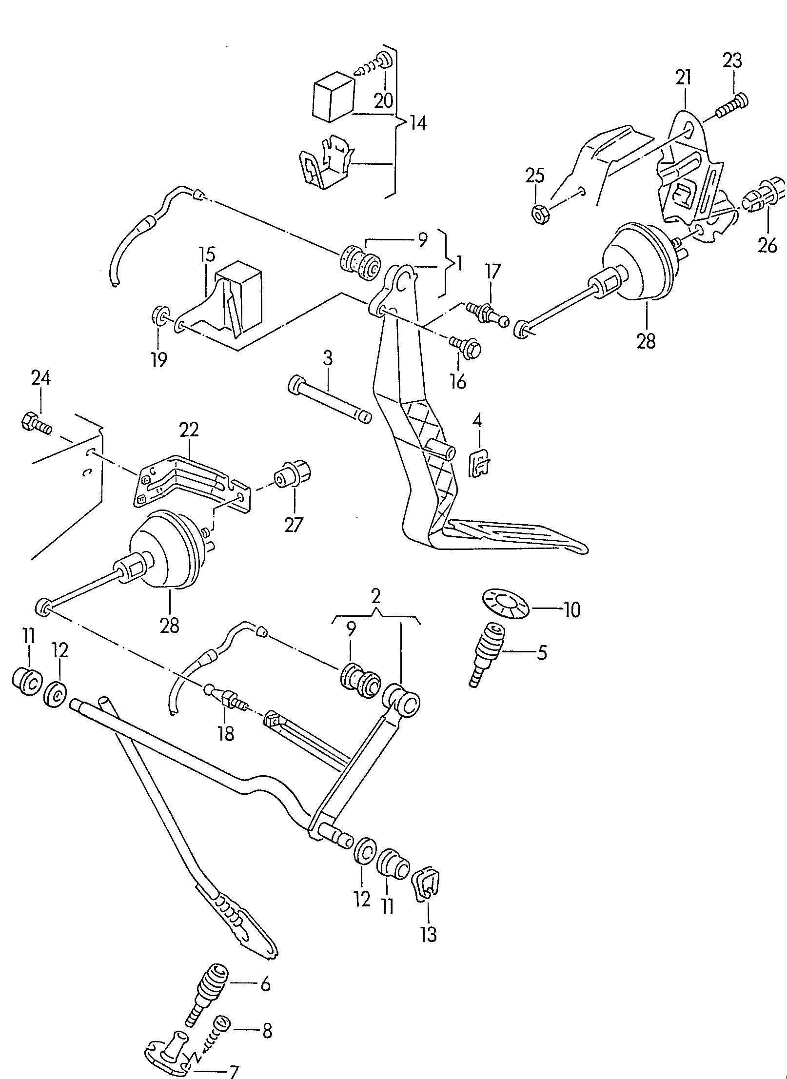 volkswagen passat accelerator pedal