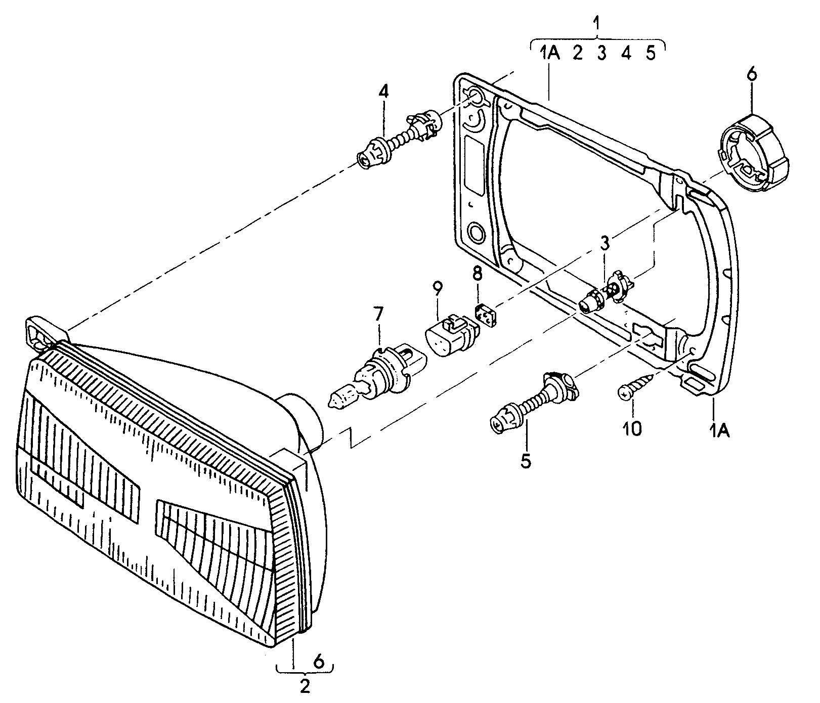 Volkswagen Atlanta: Volkswagen Jetta Retaining Ring For Halogen Bulb. BULB