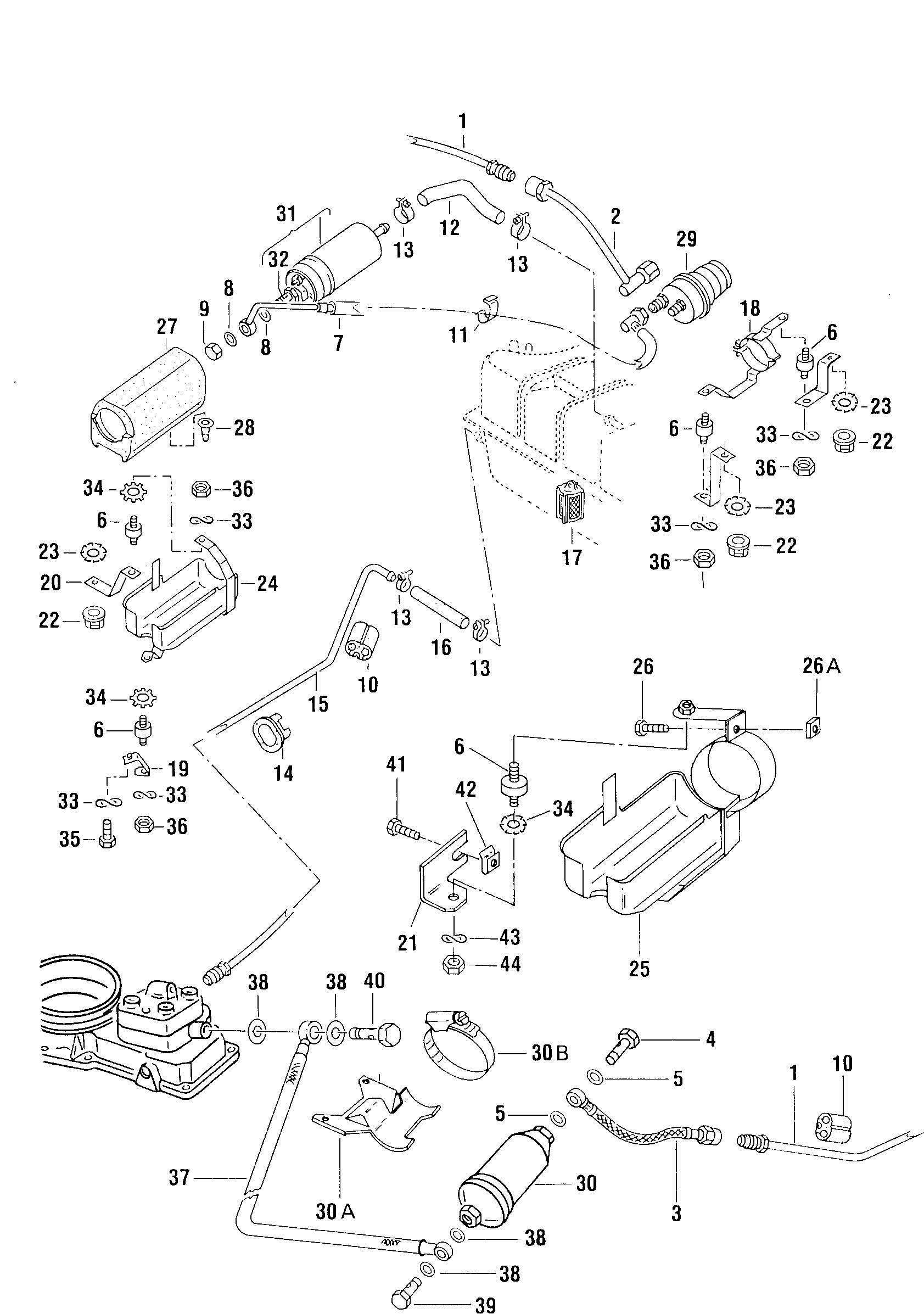 volkswagen pickup accumulator fuel filter fuel pump fuel line