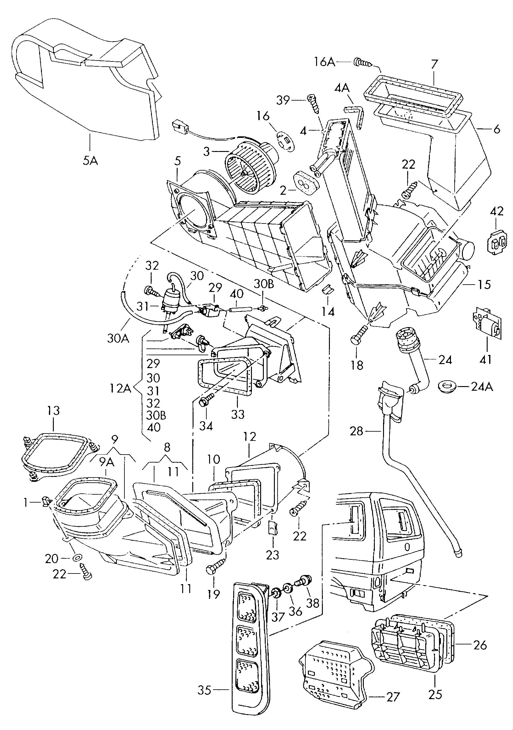 1999 volkswagen beetle interior parts