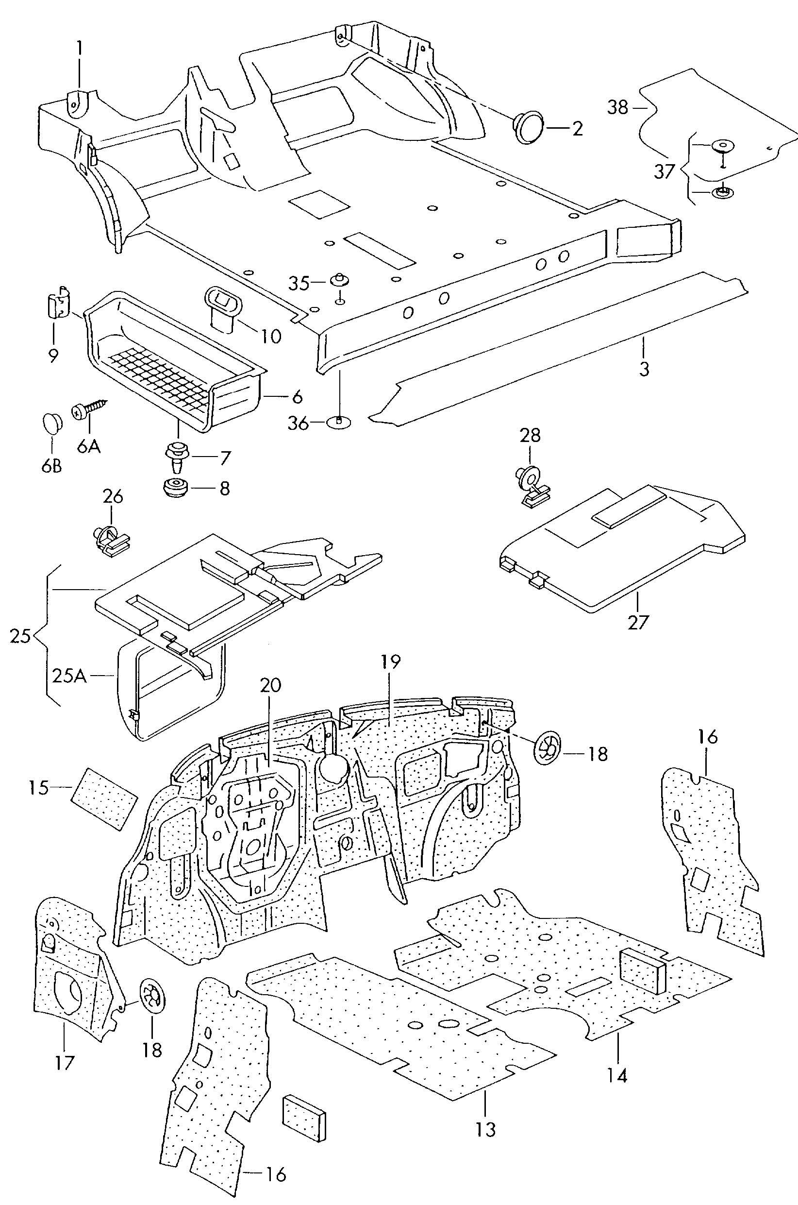 volkswagen eurovan sound absorbers cover under dashboard