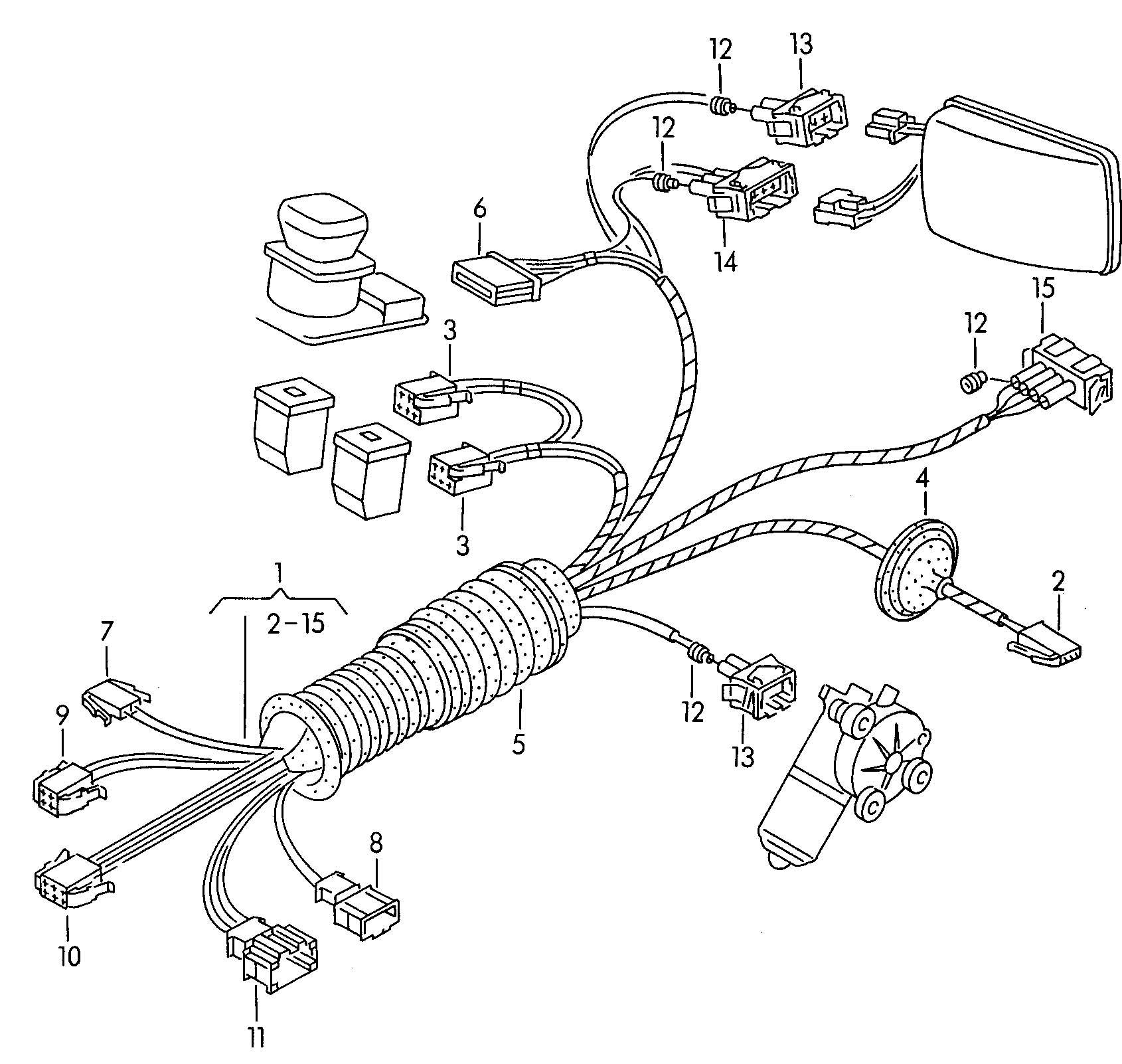 harness for door single parts