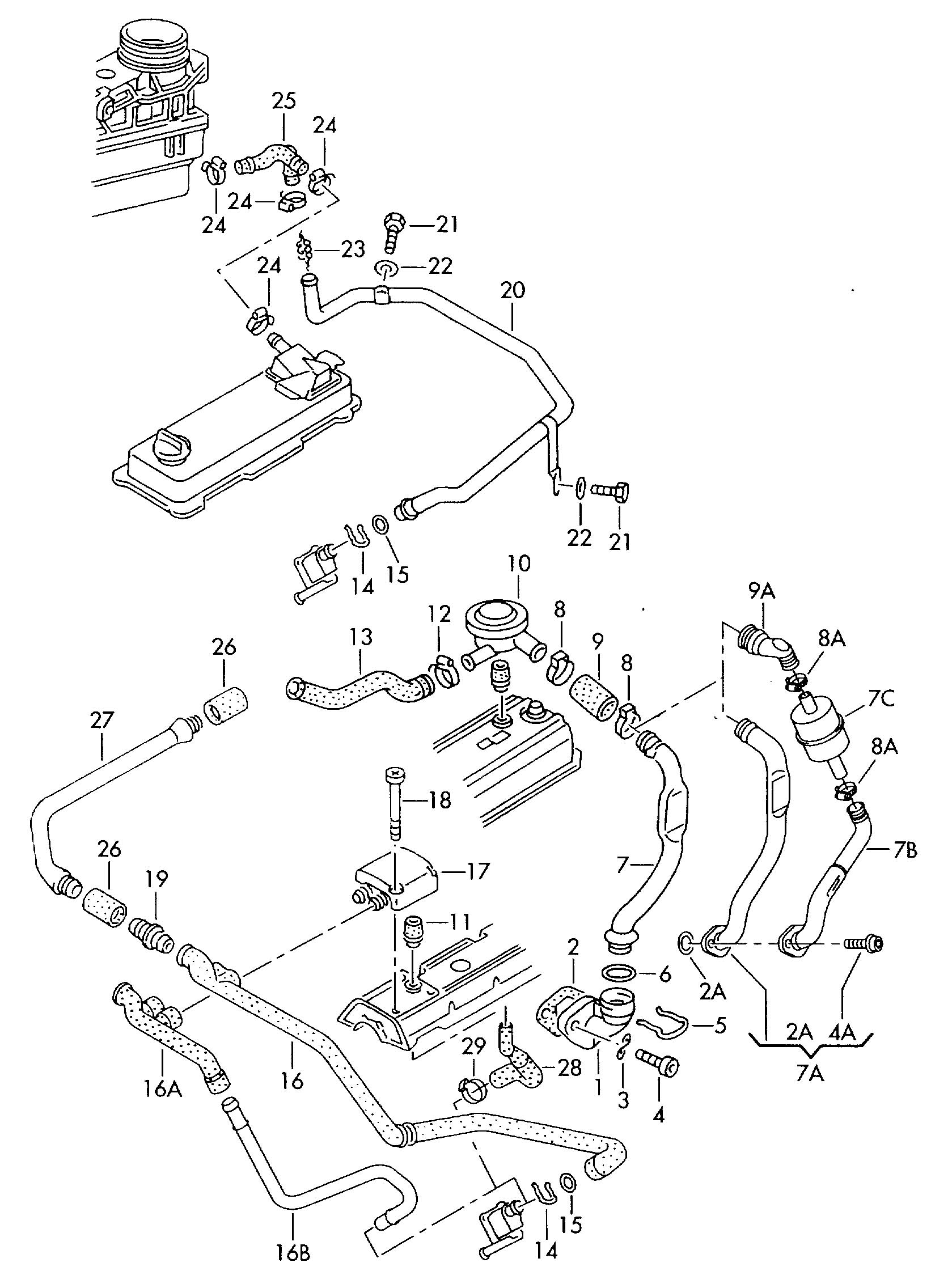 Drawings exploded views likewise Jetta Golf 995 05 Mk4 additionally 07D121008A likewise T25197234 Only fires 1 cylinder chevy 5 0 1500 likewise ShowAssembly. on 97 jetta cylinder head