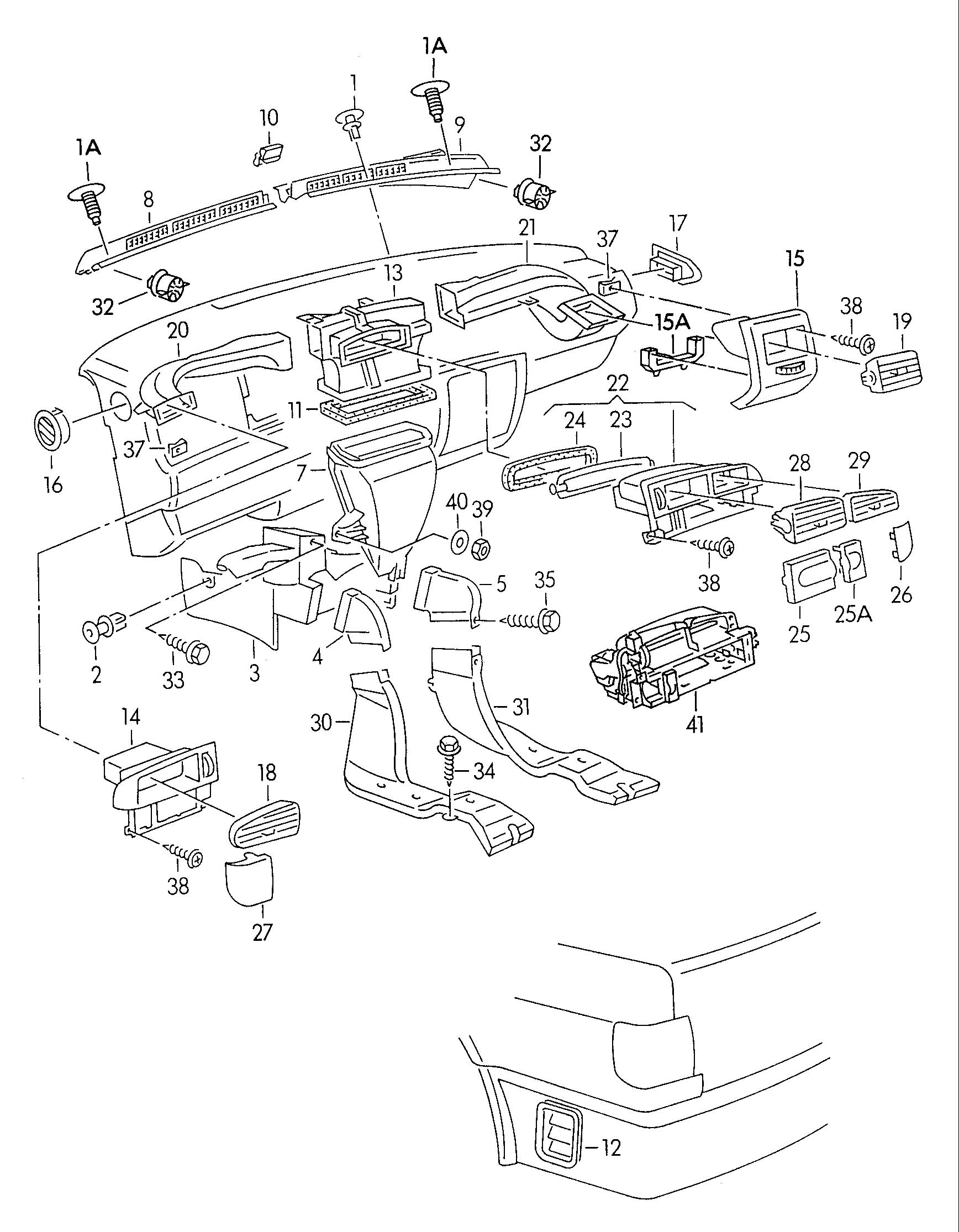 1997 audi cabriolet parts diagram