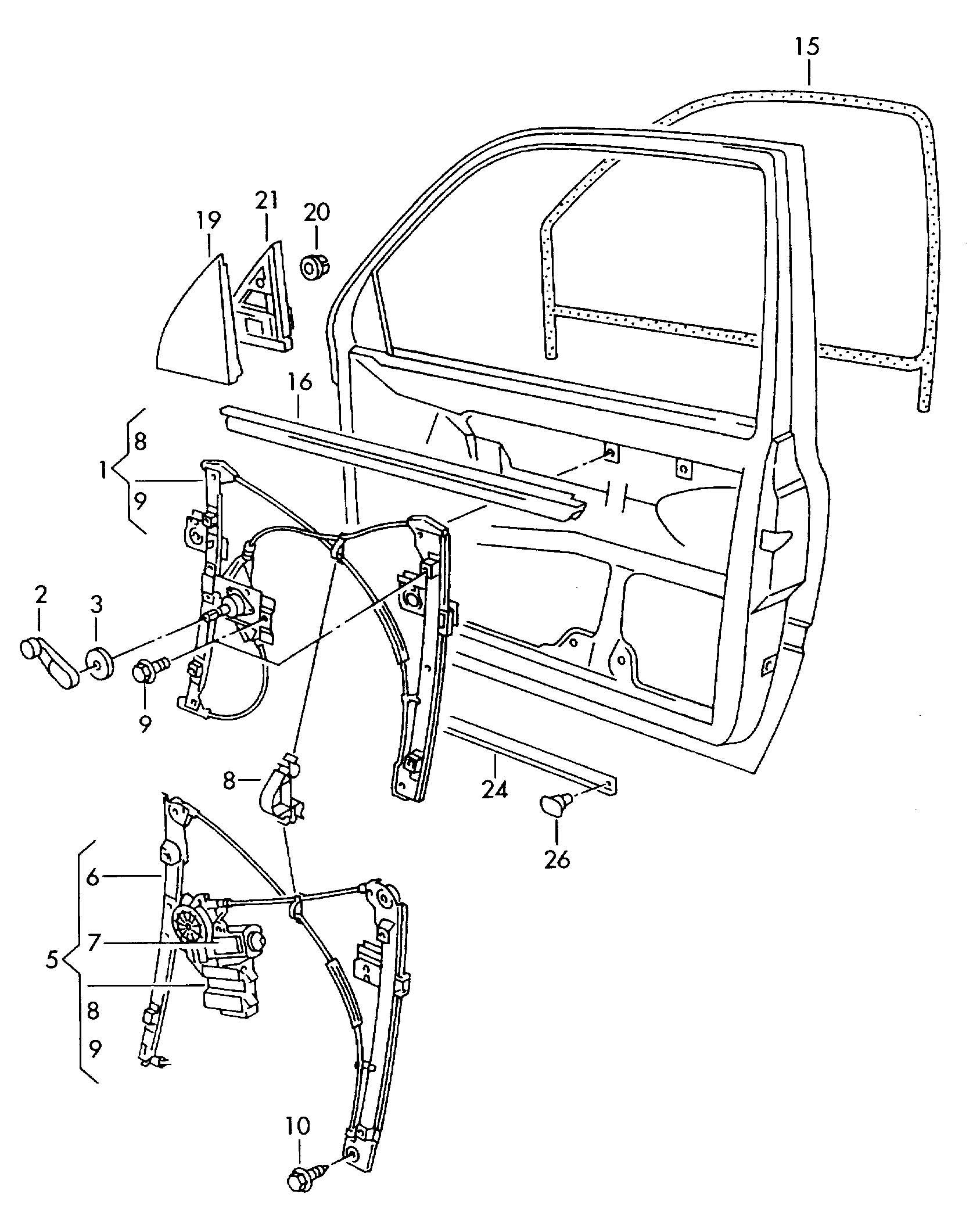 Volkswagen Jetta Dealer Parts: BROSE 1H0959801A LEFT Window Lifter Motor For VOLKSWAGEN