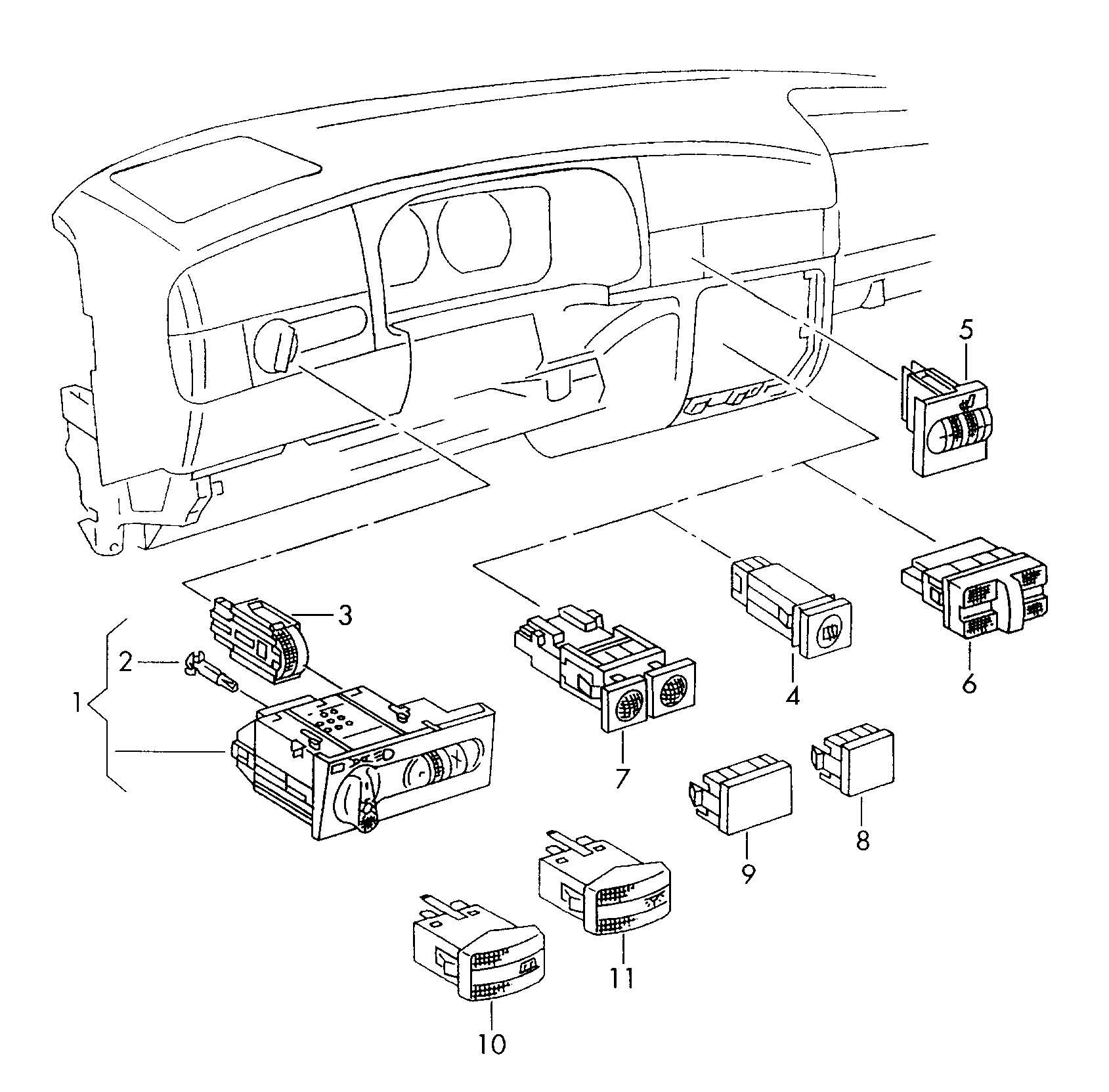 Volkswagen Atlanta: 1H0959621B 01C - Volkswagen Satin Black