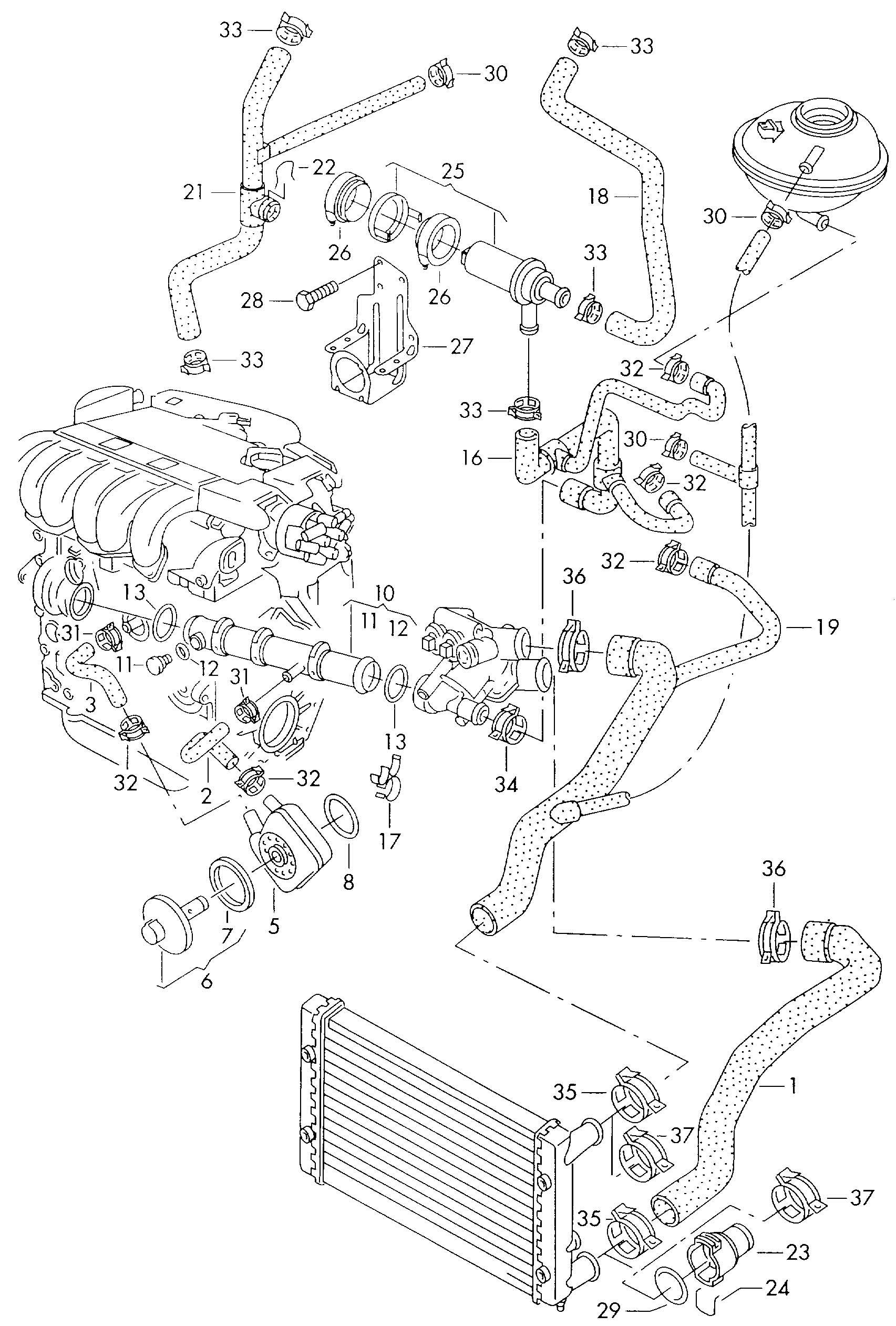 1993 Volkswagen Passat  Reservoir  U0026gt  Throttle Valve Water