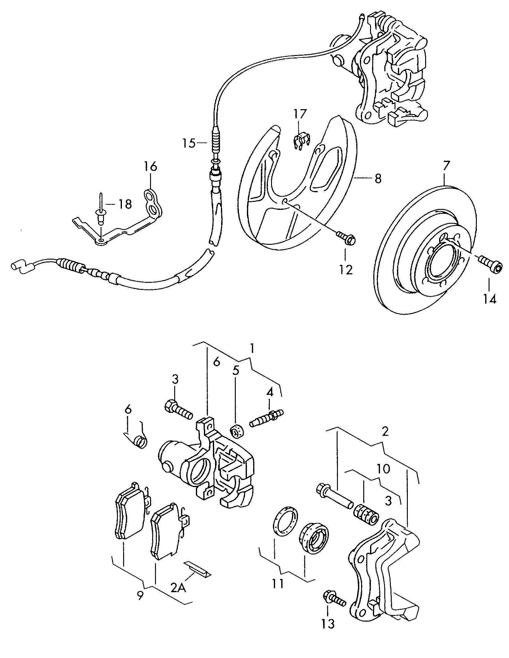 Brake Repair Diagram : Rear brake repair kits sliders seals etc vw t forum