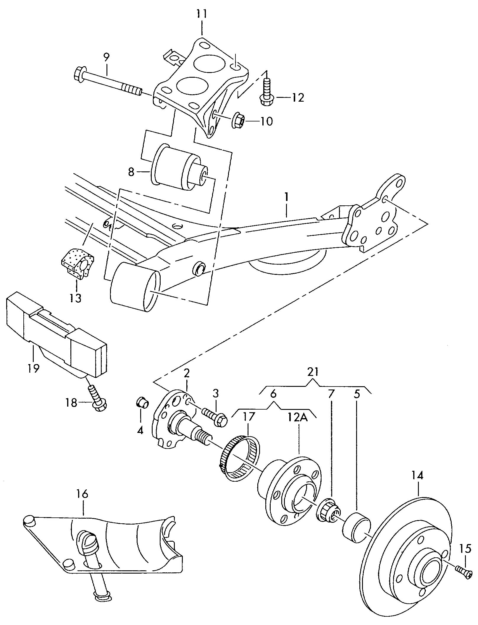 Volkswagen Jetta Comprising  Wheel Bearing With Mounting Parts  Wheel Bearing Kit  Repair