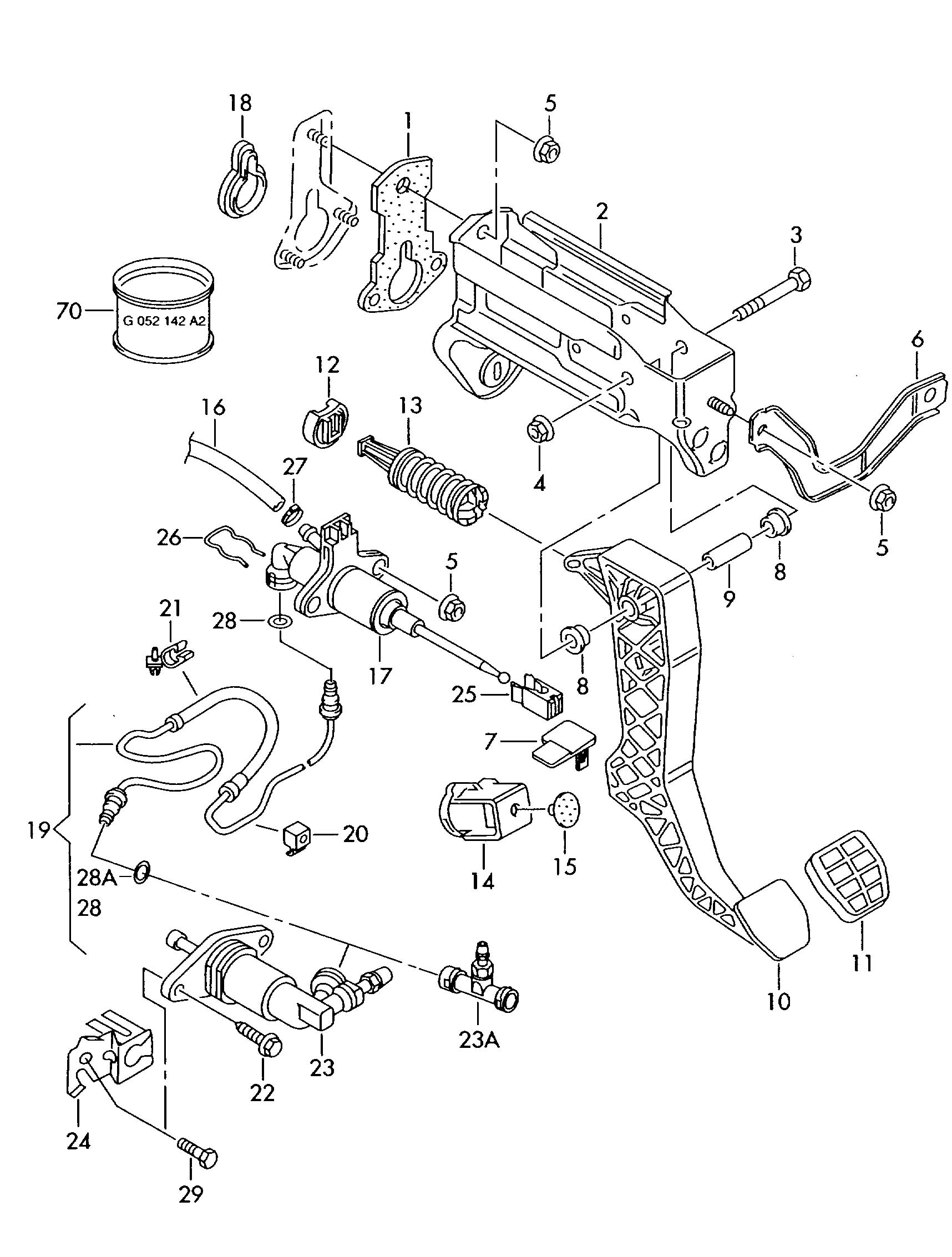 volkswagen new beetle convertible for vehicles with slave cylinder shift cable  clutch cylinder
