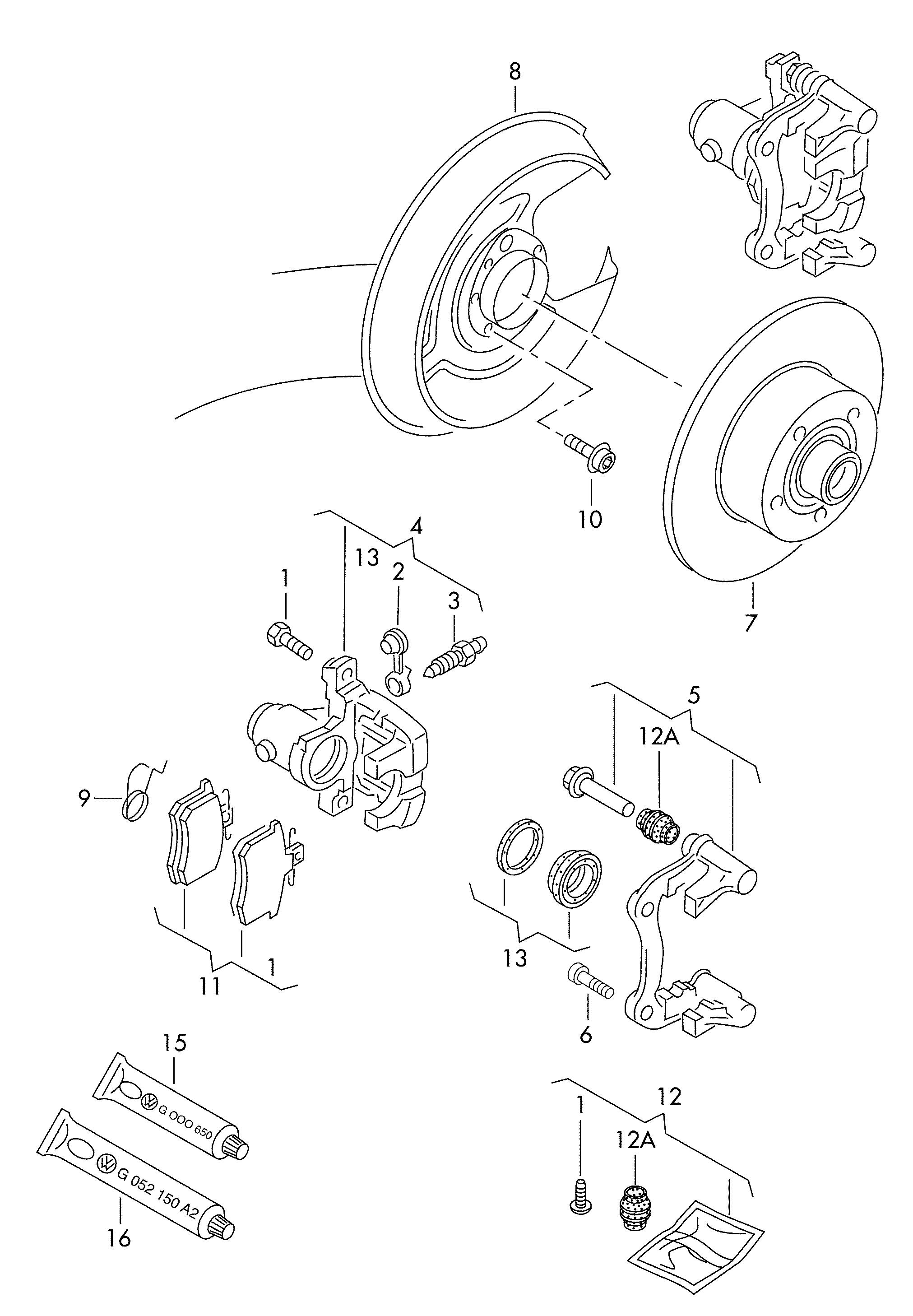front disc brake caliper assembly hilux ln106 ln107 ln111. Black Bedroom Furniture Sets. Home Design Ideas