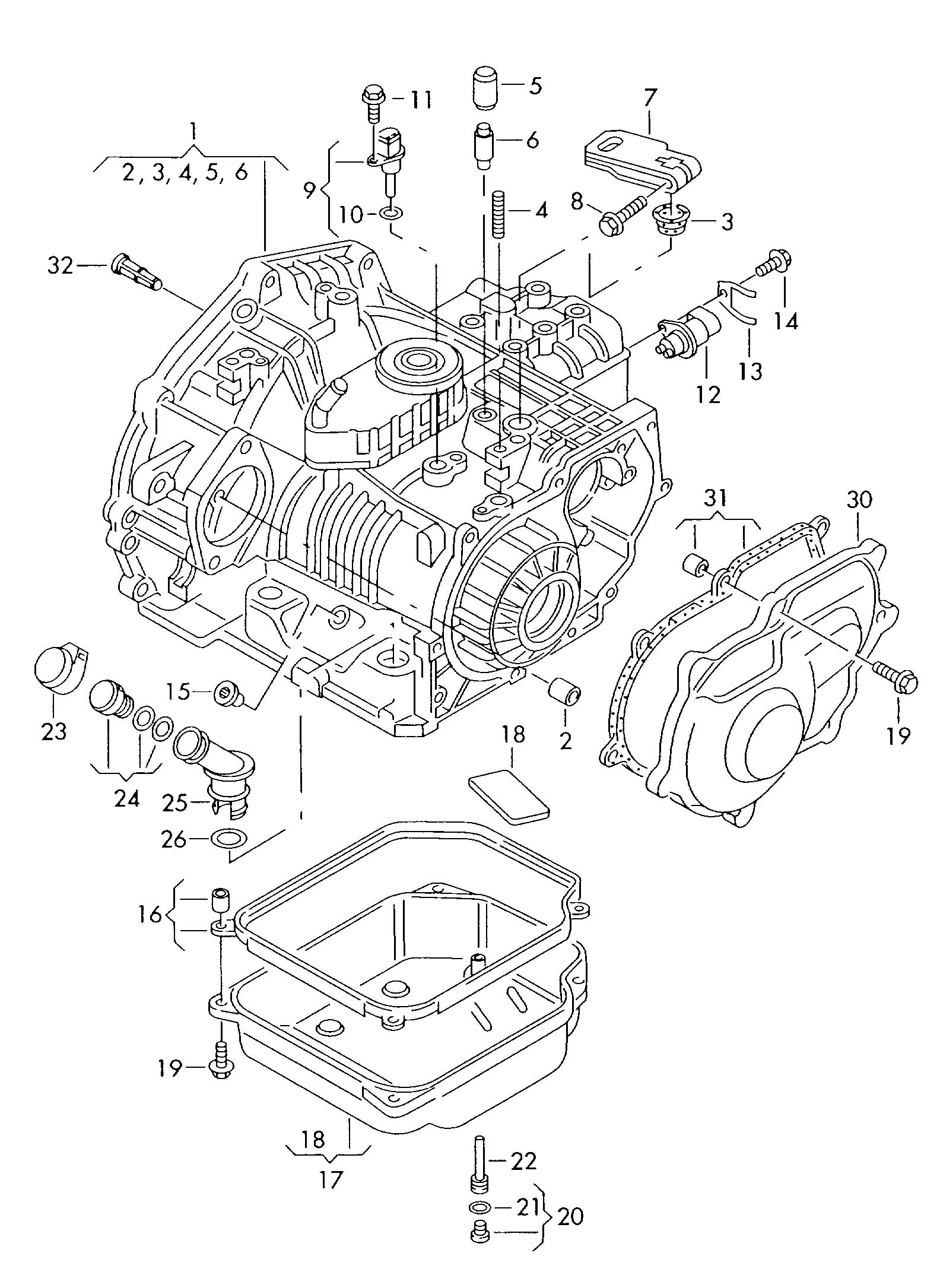 Volkswagen Transaxle Parts Diagram Wiring Diagrams Subaru 265cc Engine 2002 Jetta Auto Type 2
