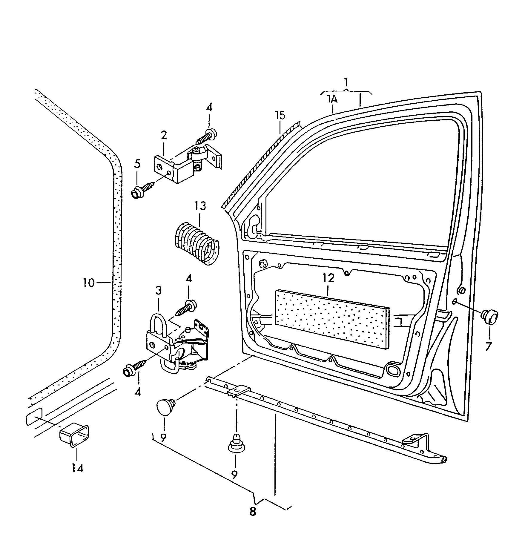 Volkswagen Atlanta: Volkswagen Jetta Door Hinge - 1J0831401E
