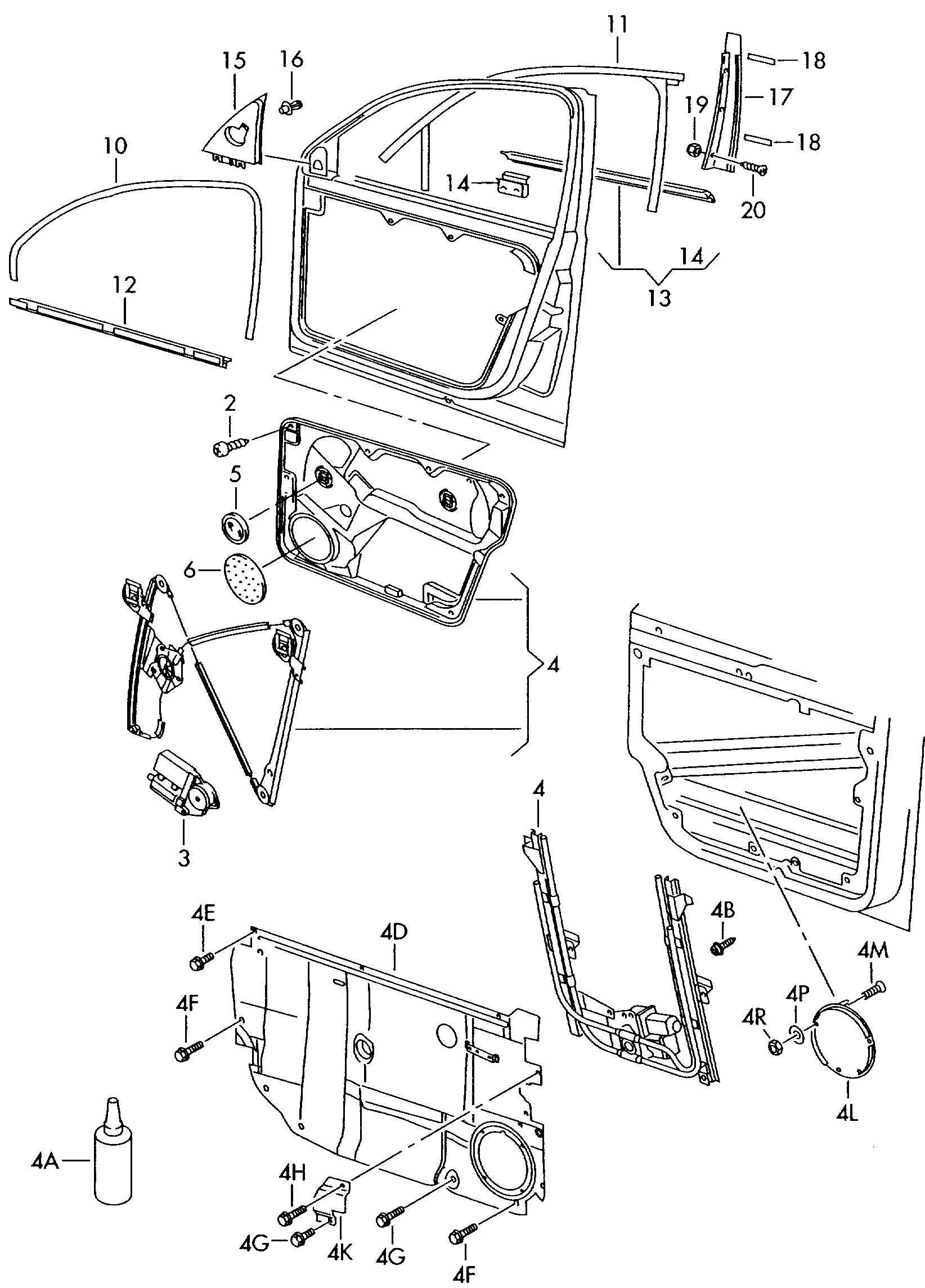 Glass channel window regulator window slot seal trim for for 2001 volkswagen passat window regulator