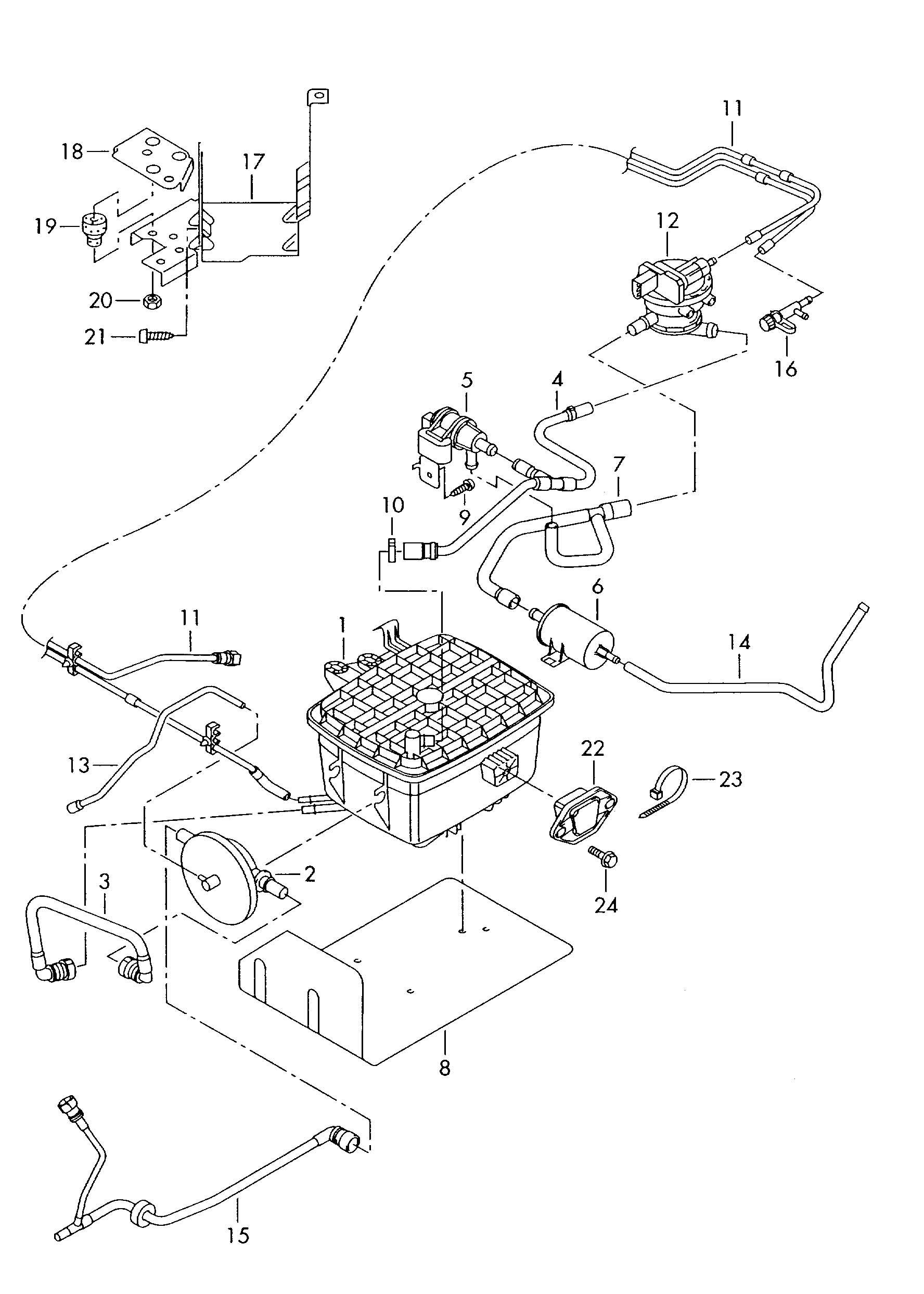 volkswagen  vw  eurovan evaporative emission canister vent hose