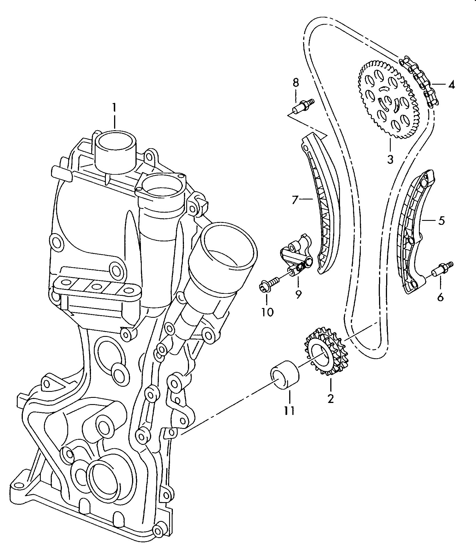 2009 Nissan Altima Qr25de Engine  partment Diagram moreover V Belt Diagram Buick V8 furthermore Ford 2 0 Timing Marks Car Pictures likewise 06H105243K in addition 5 4 Front Timing Marks. on 2010 vw cc timing chain