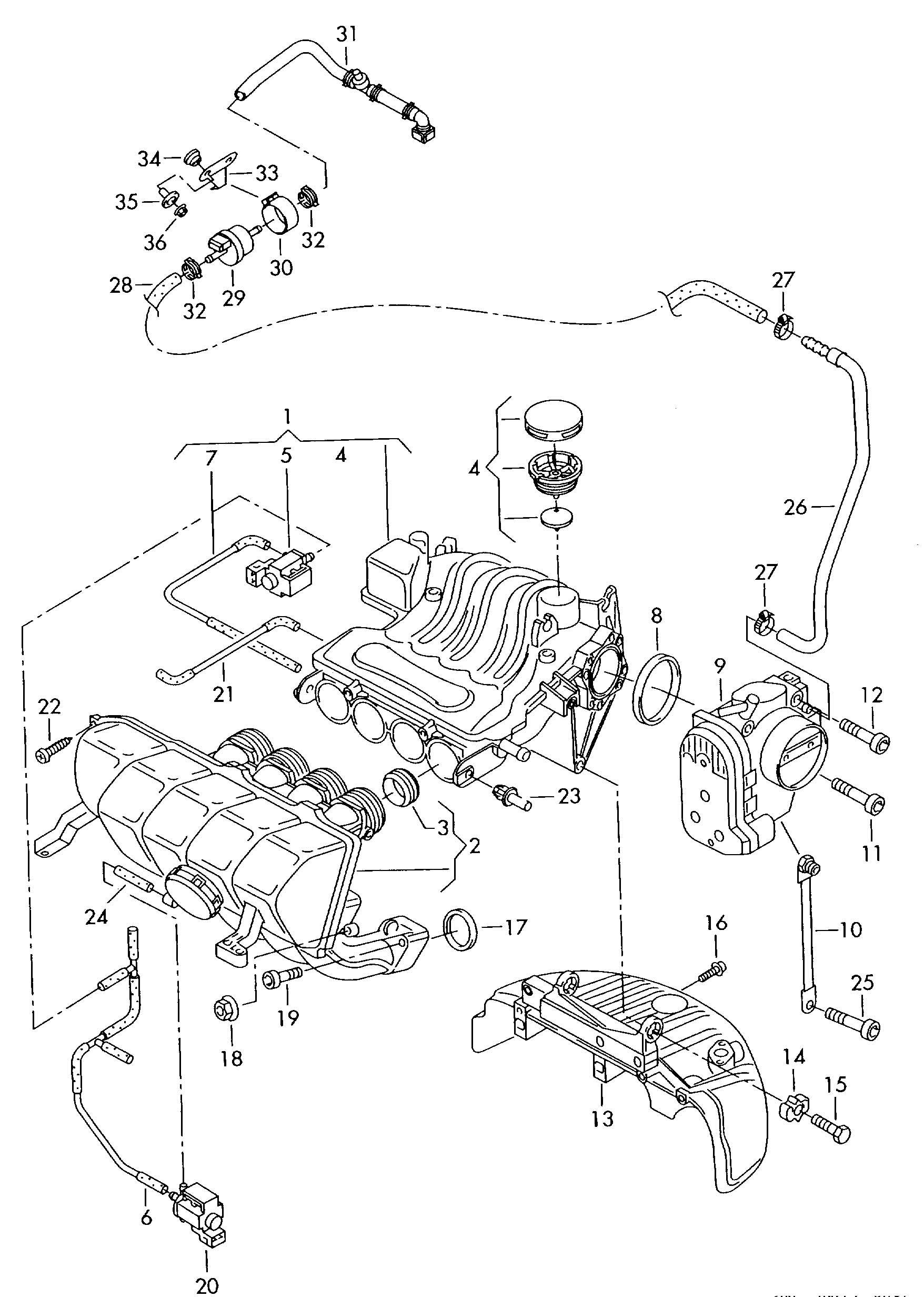 06A198205A - Volkswagen Repair kit for valve unit | Jim ...