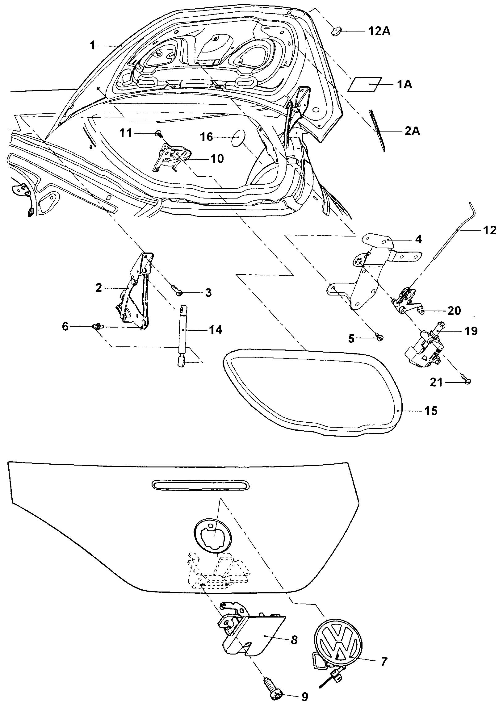 vw new beetle convertible parts diagram