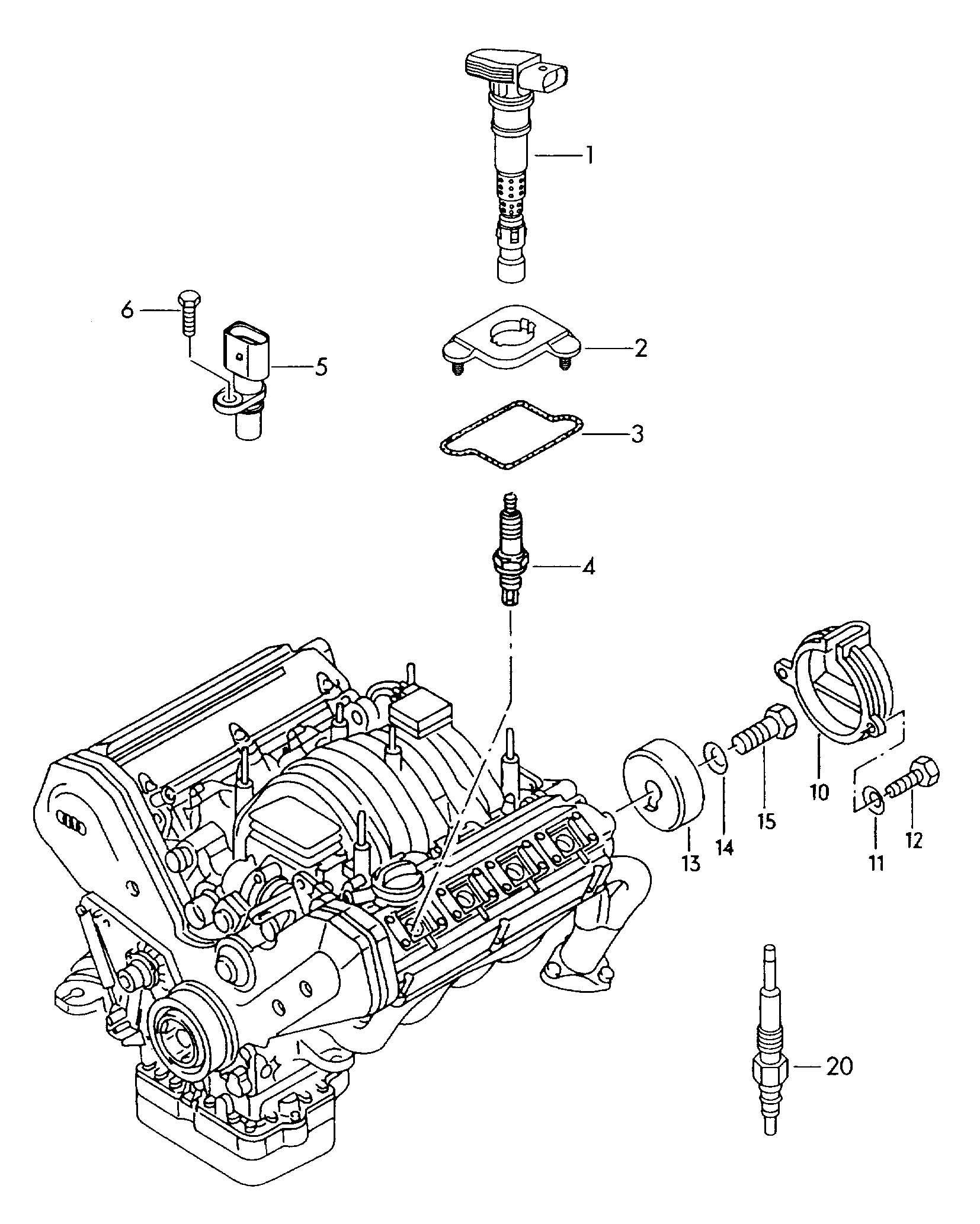 2003 volkswagen plug  spark  longlife   longlife sparkplugs  sarkplug  plugs
