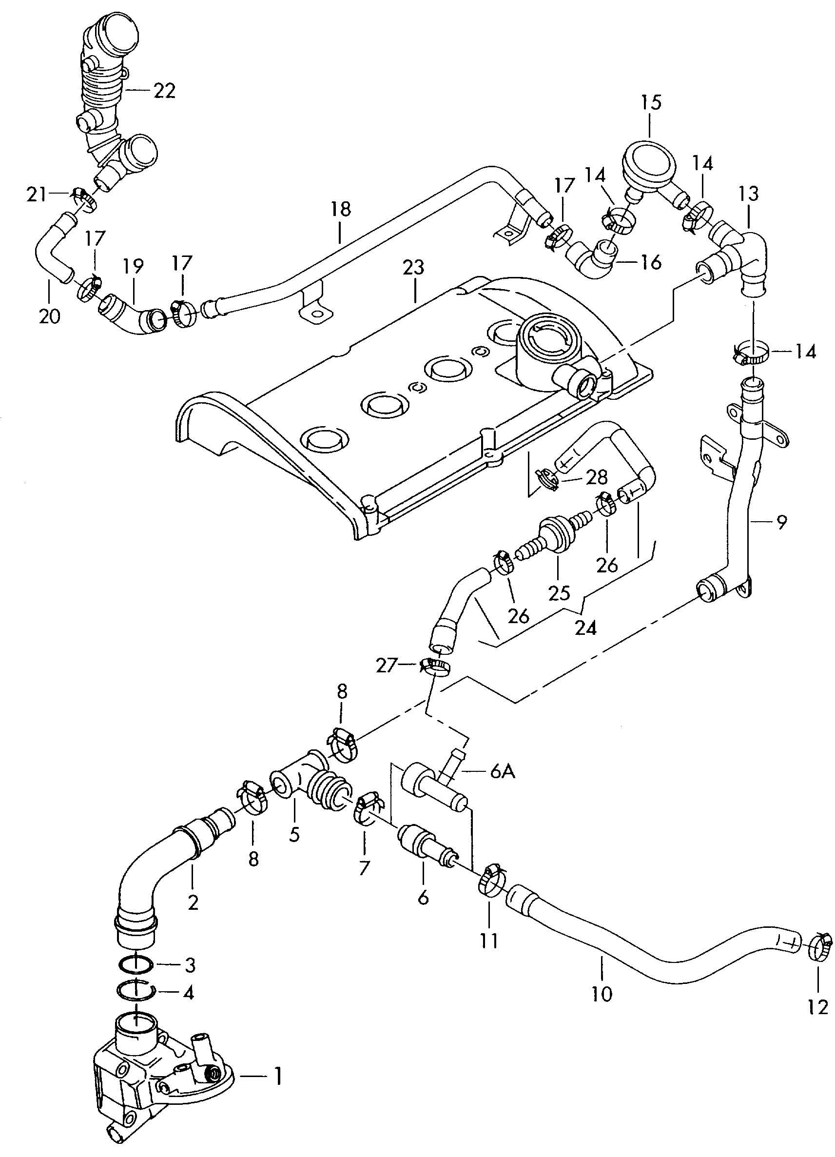 2004 Volkswagen Passat Check valve - 06A133528D   Jim ...