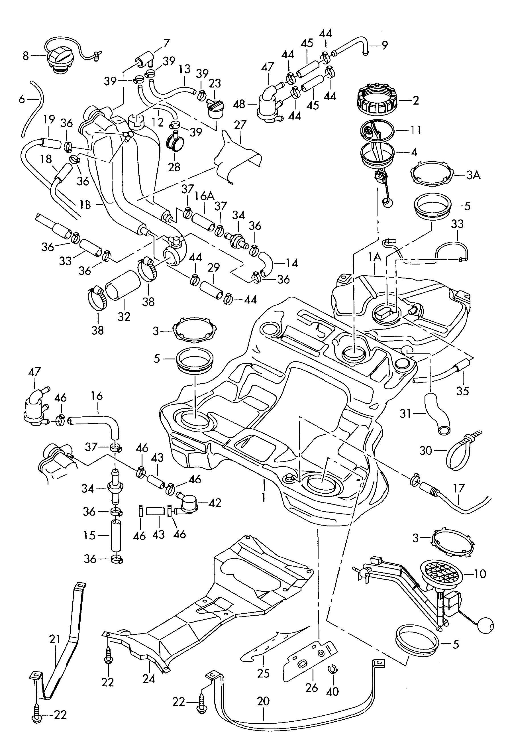 2002 volkswagen passat fuel tank. Black Bedroom Furniture Sets. Home Design Ideas