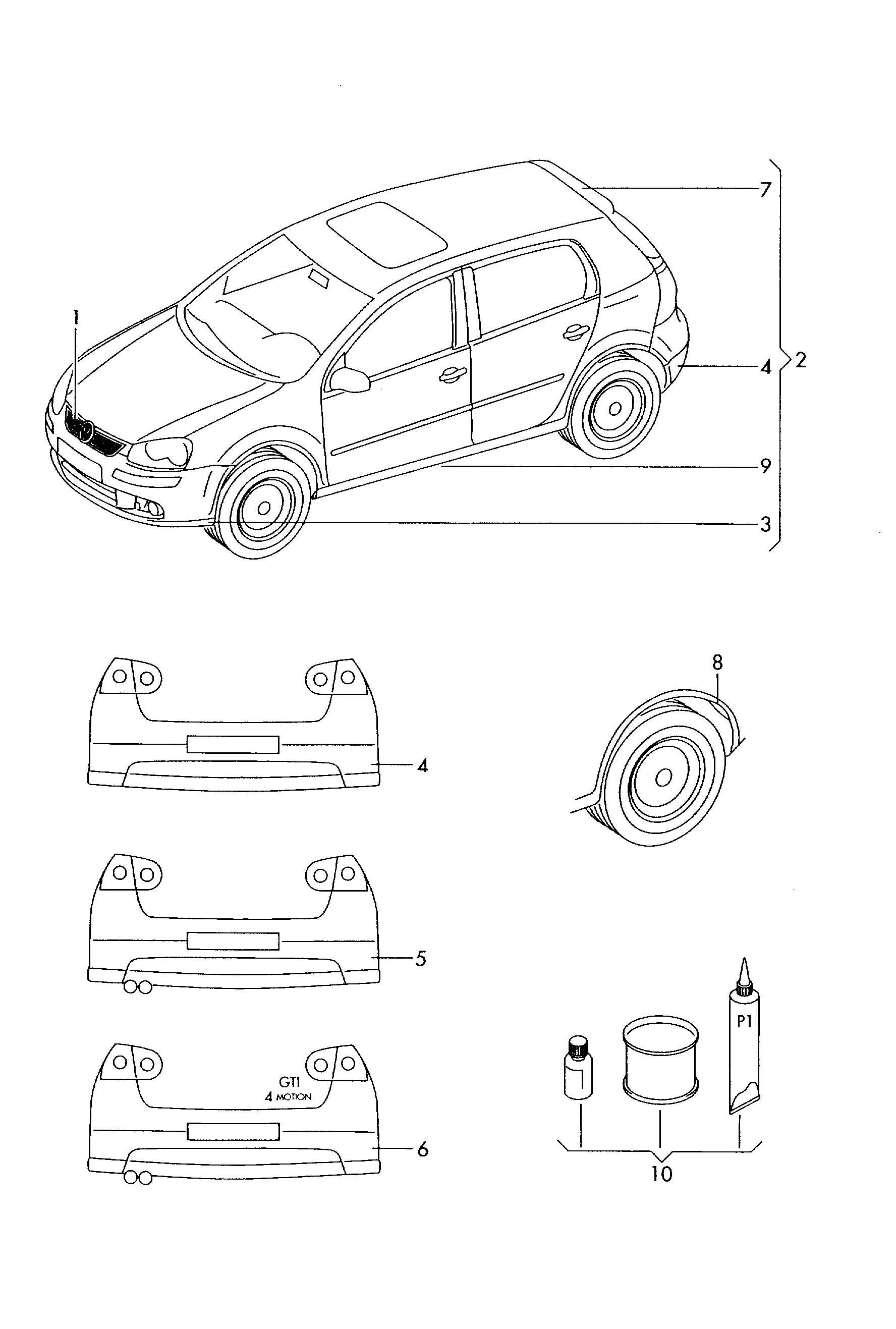 2008 vw beetle parts catalog