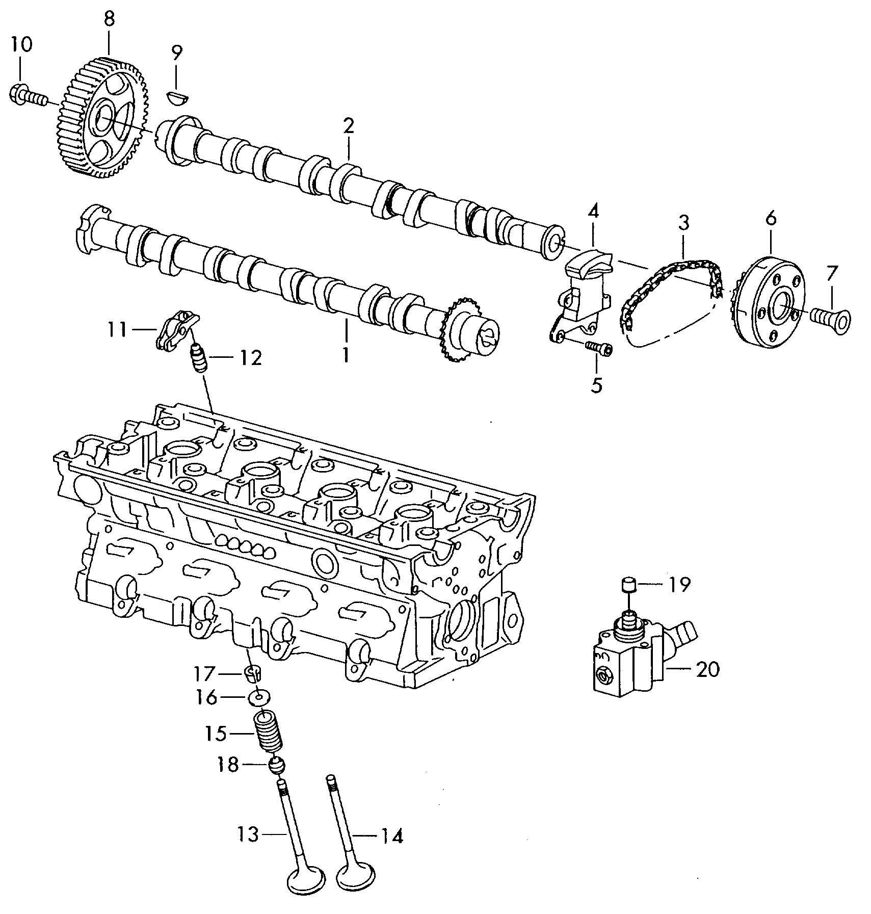 2012 Volkswagen Timing Chain