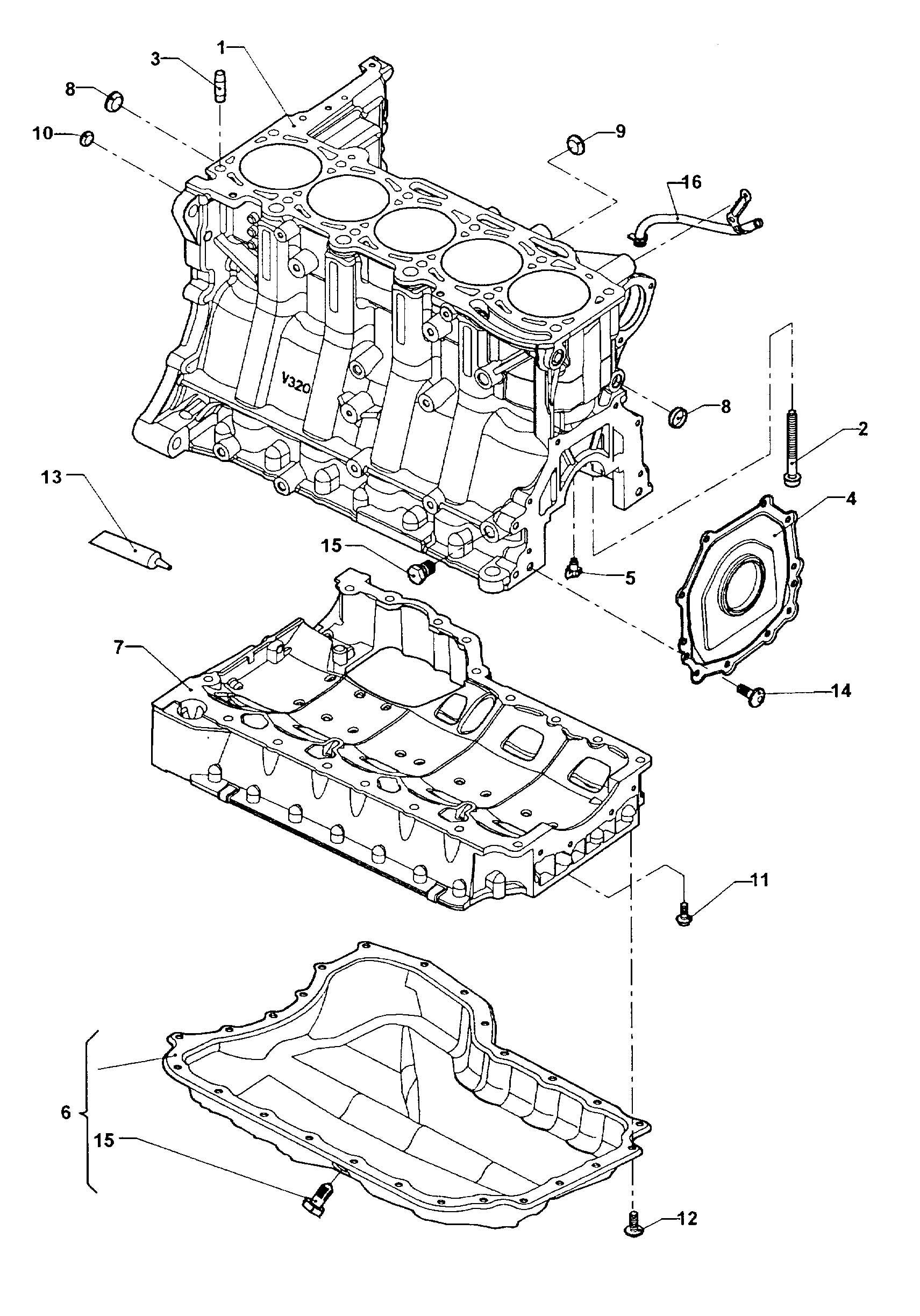 2007 volkswagen new beetle cylinder block oil pan 2 5ltr