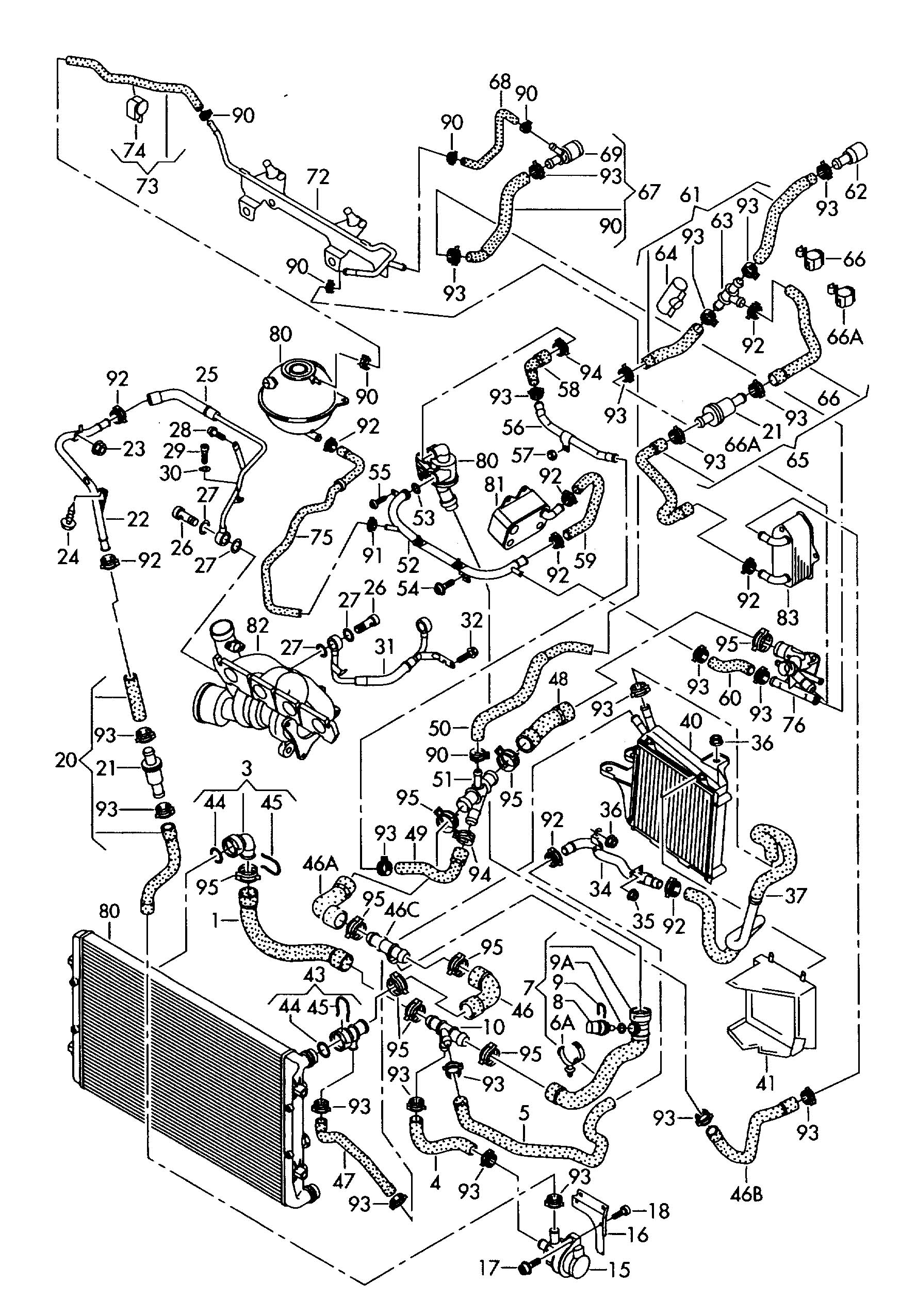 28 2001 Vw Beetle Cooling System Diagram