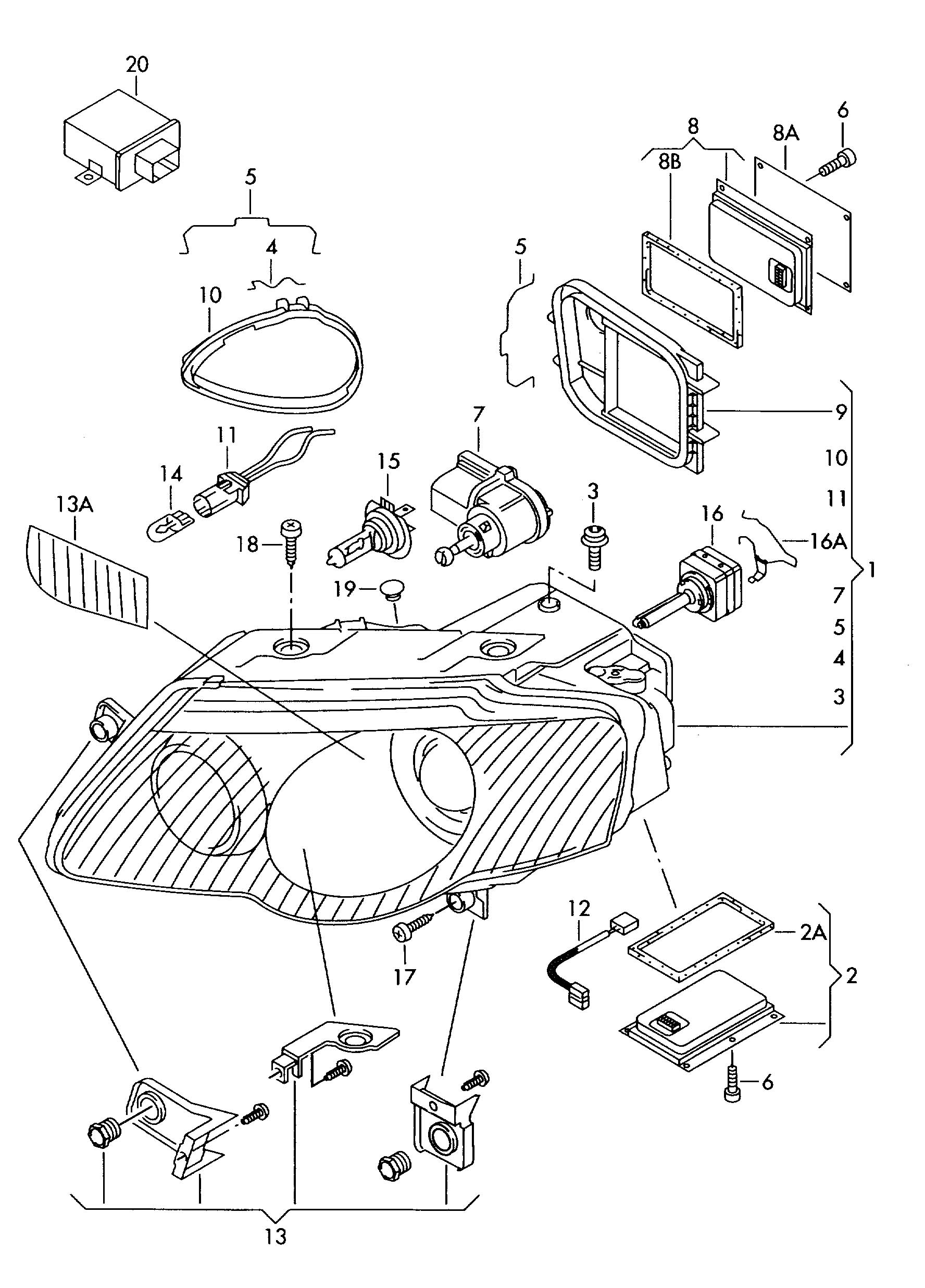 Chevy Cruze Radio Wiring Diagram besides Viewtopic furthermore ShowAssembly together with 8D0941299B likewise Headlight Adjustment Screw. on vw passat headlight adjustment
